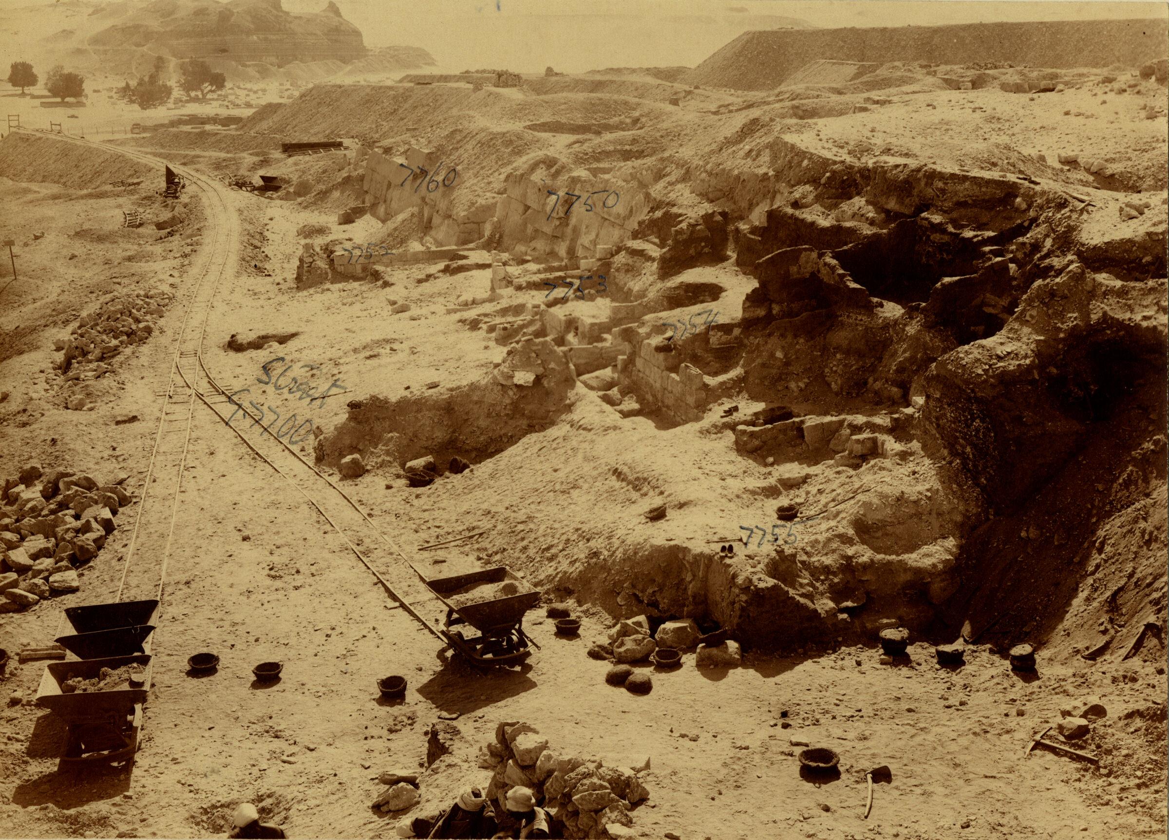 Eastern Cemetery: Site: Giza; View: street G 7700, G 7750, G 7760, G 7755, G 7754, G 7753