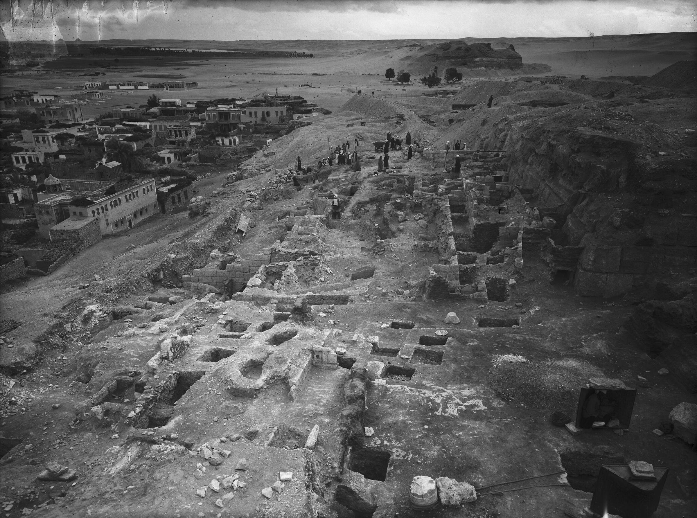 Eastern Cemetery: Site: Giza; View: street G 7700, G 7750, G 7760, G 7757, G 7755, G 7754, G 7753, G 7761, G 7762, G 7763, G 7764