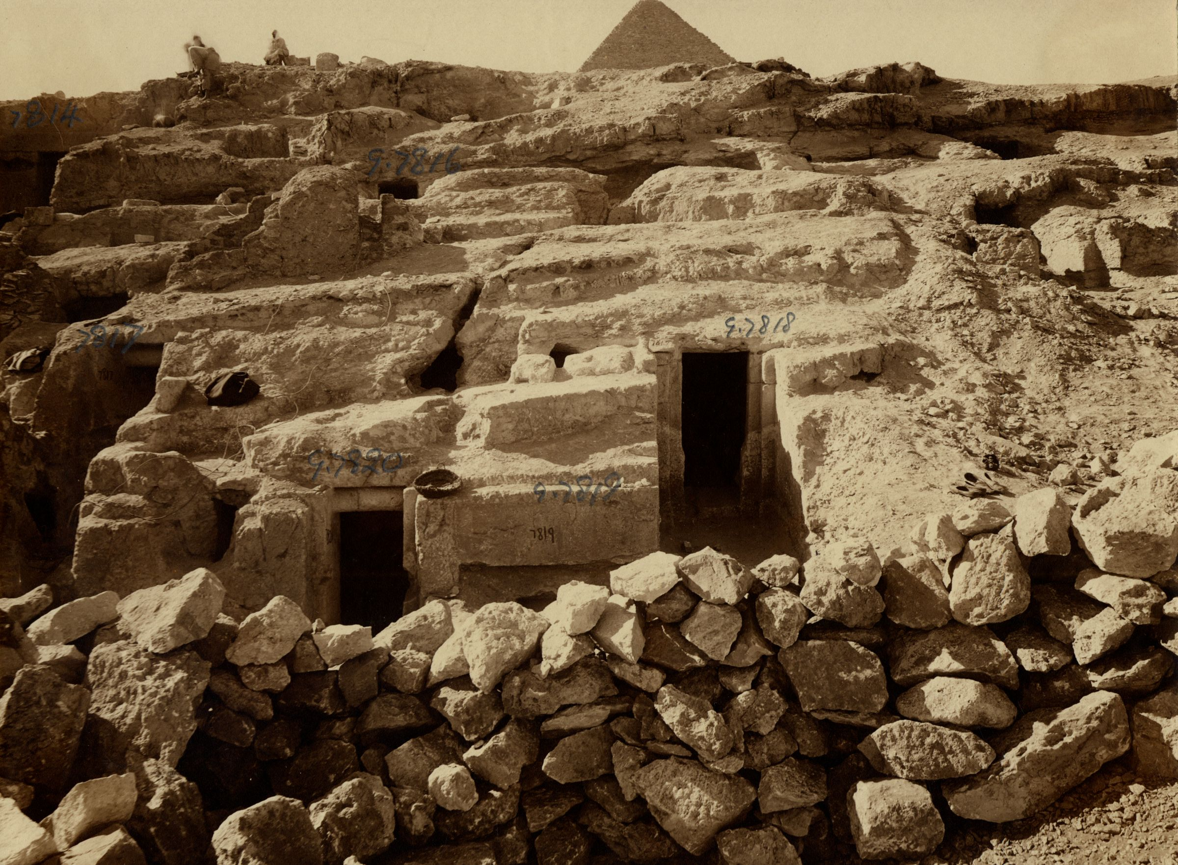 Eastern Cemetery: Site: Giza; View: G 7817, G 7820, G 7819, G 7818, G 7816