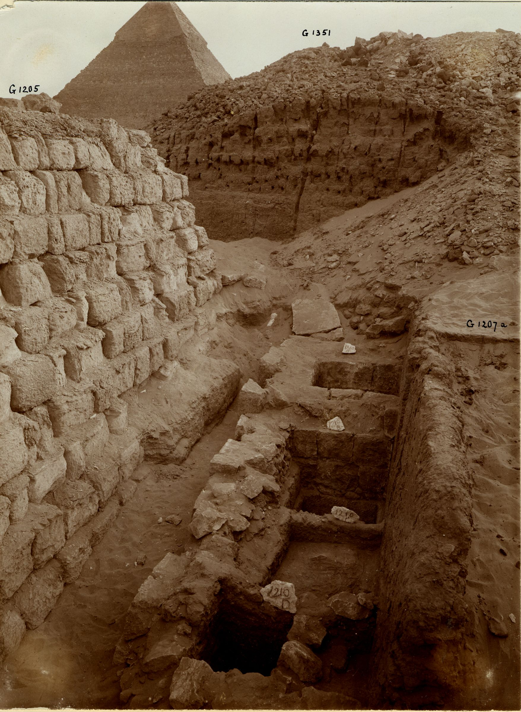 Western Cemetery: Site: Giza; View: G 1210, G 1207, G 1205, G 1351