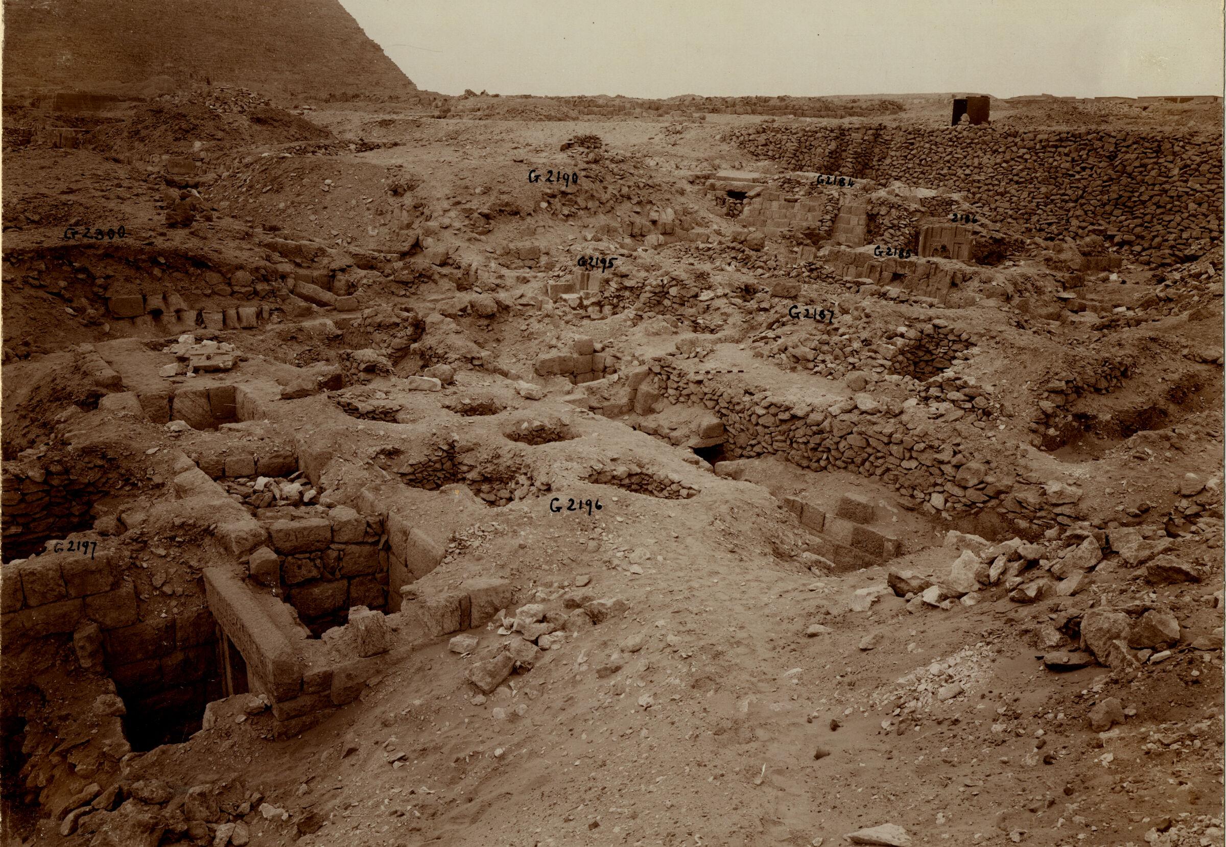 Western Cemetery: Site: Giza; View: G 2197, G 2196, G 2195, G 2187, G 2188, G 2186, G 2184