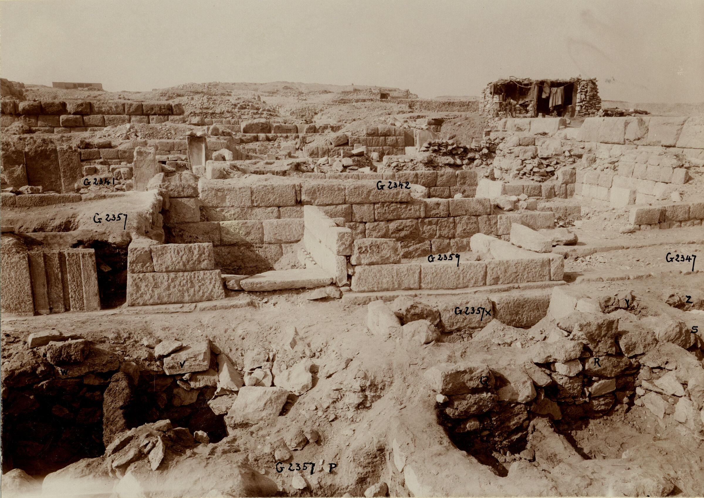 Western Cemetery: Site: Giza; View: G 5555, G 5554, G 5561, G 5552, G 5553, G 5551, G 5540, G 2342 = G 5520
