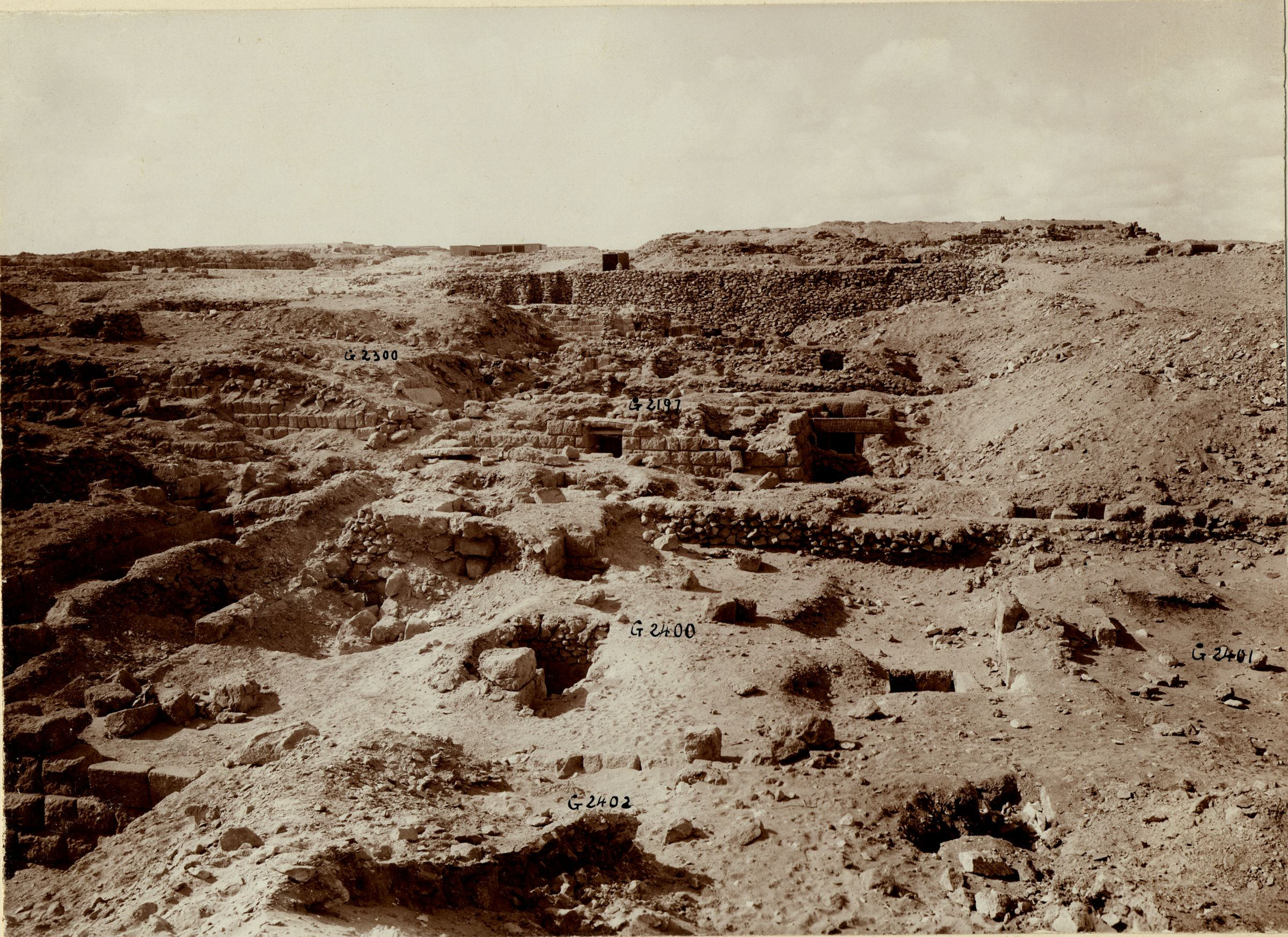 Western Cemetery: Site: Giza; View: G 2402, G 2400, G 2197, G 2300 = G 5190