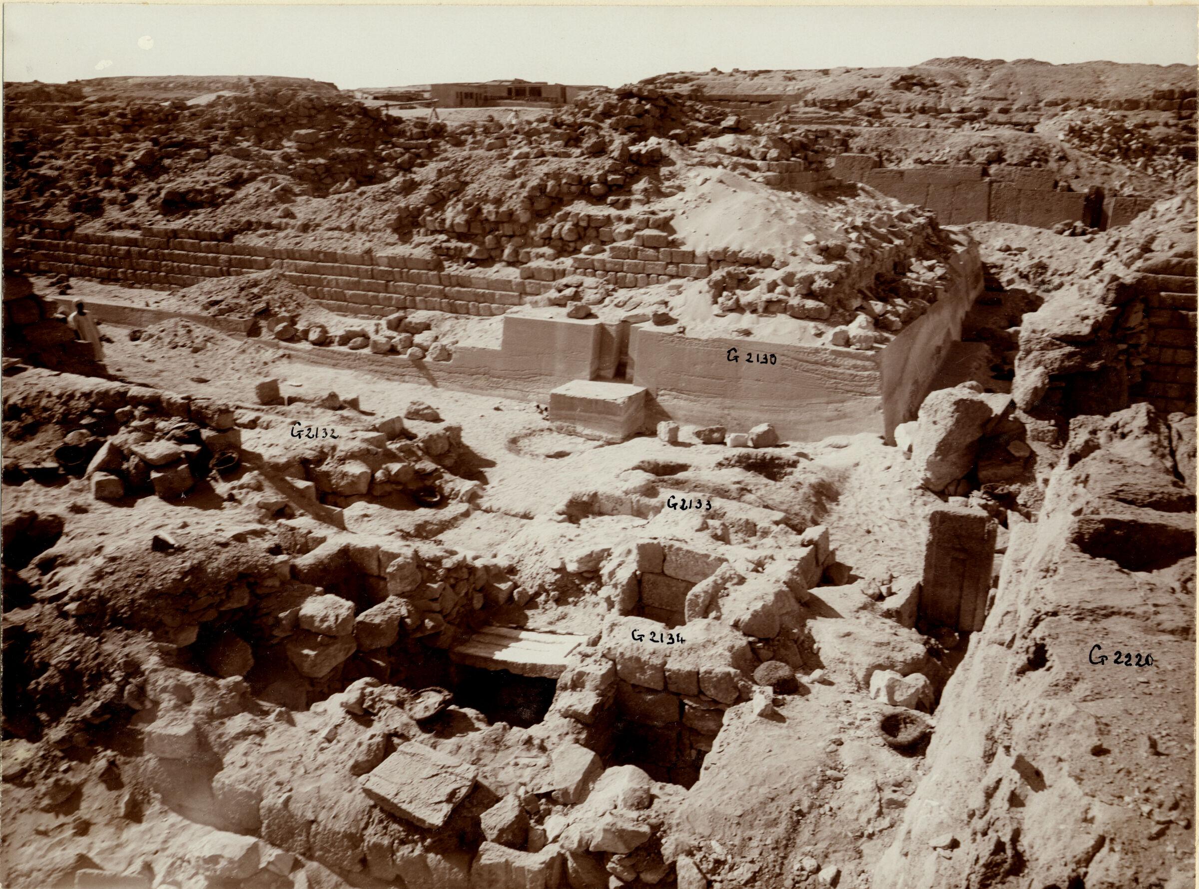Western Cemetery: Site: Giza; View: G 2220, G 2134, G 2133, G 2132, G 2131, G 2130