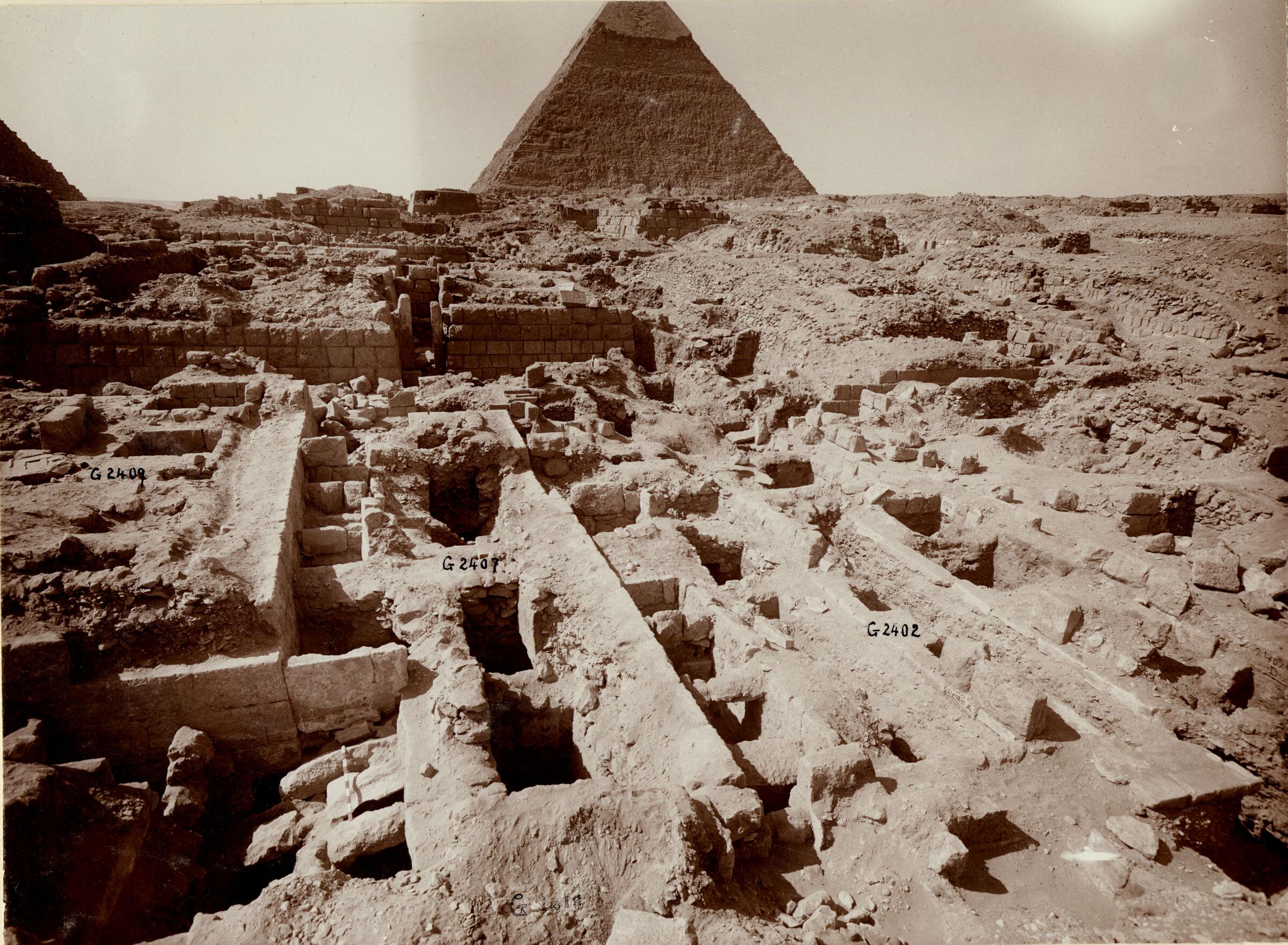 Western Cemetery: Site: Giza; View: G 2407, G 2402, G 2409, G 2360, G 2353