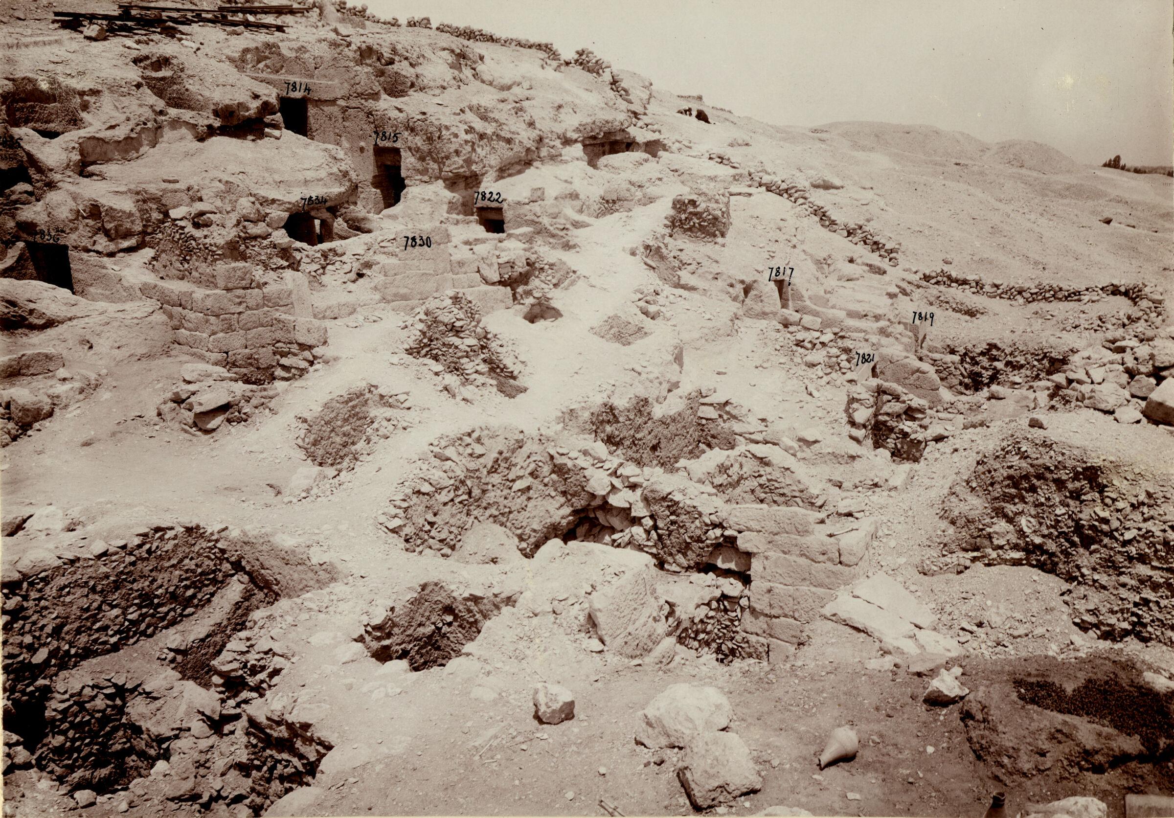 Eastern Cemetery: Site: Giza; View: G 7814, G 7815, G 7817, G 7819, G 7821, G 7822, G 7830, G 7834