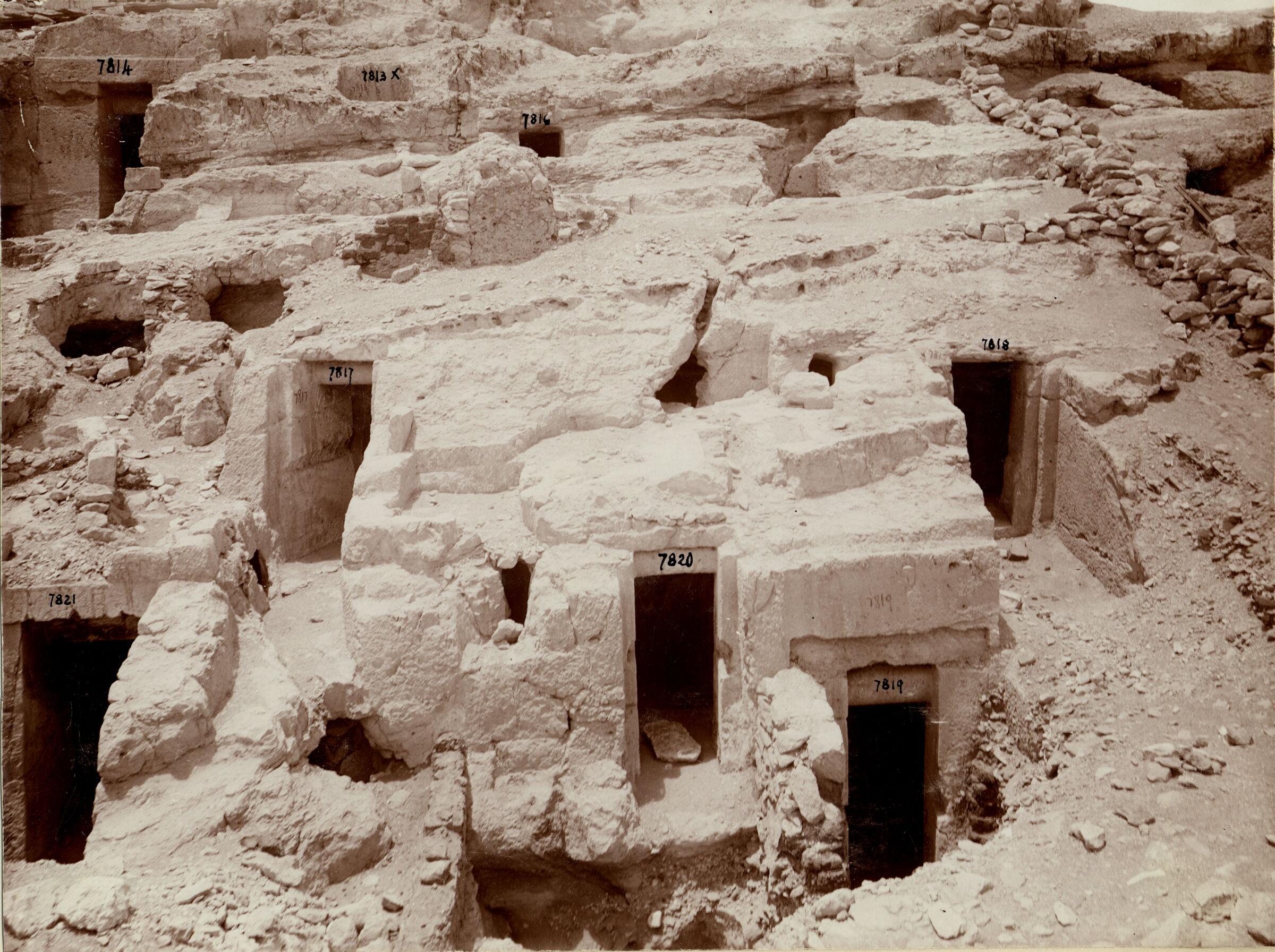 Eastern Cemetery: Site: Giza; View: G 7813, G 7814, G 7816, G 7817, G 7818, G 7819, G 7820, G 7821