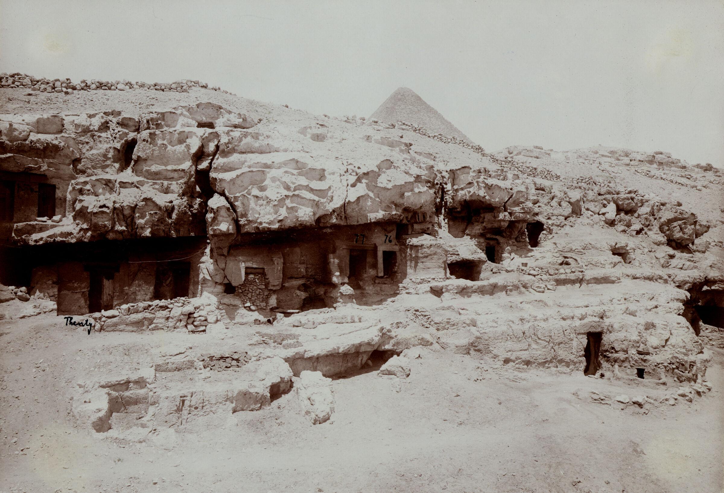 Eastern Cemetery: Site: Giza; View: Lepsius 76, Lepsius 77