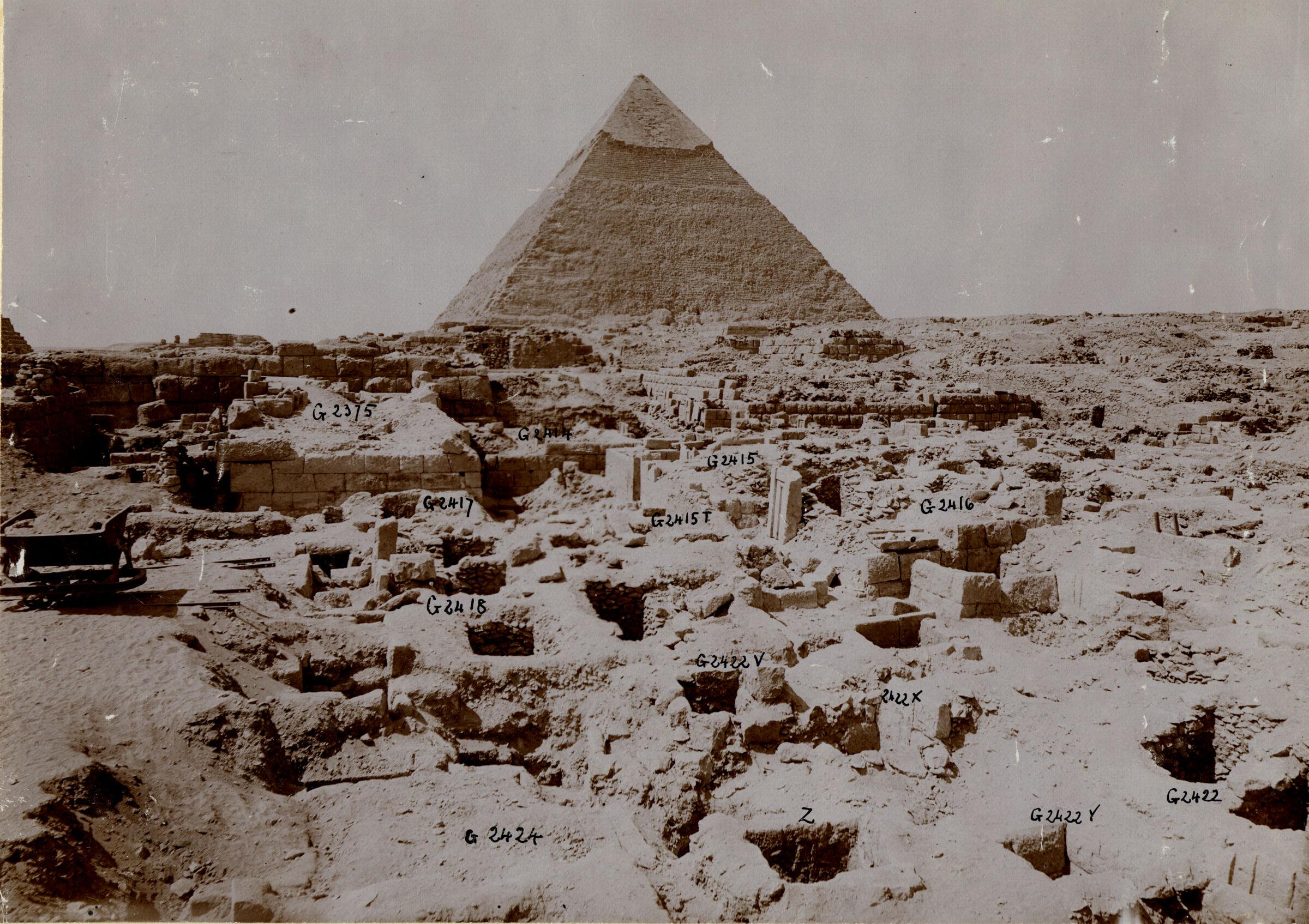 Western Cemetery: Site: Giza; View: G 2424+2425, G 2418, G 2417, G 2375, G 2422, G 2416, G 2415, G 2414