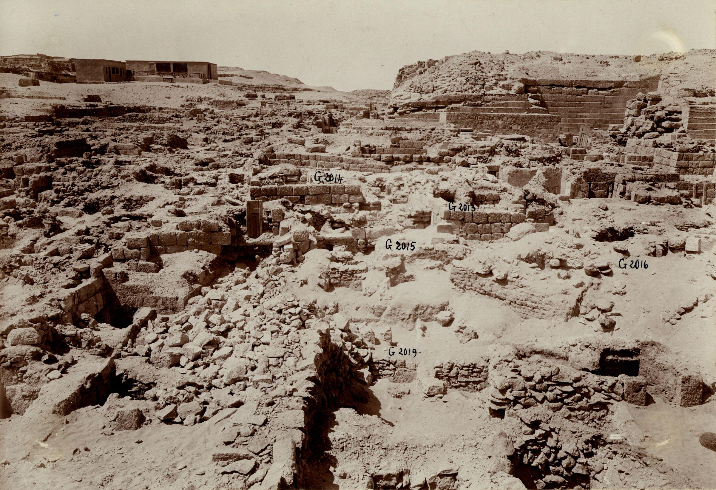 Western Cemetery: Site: Giza; View: G 2017, G 2015, G 2016, G 2014, G 2013