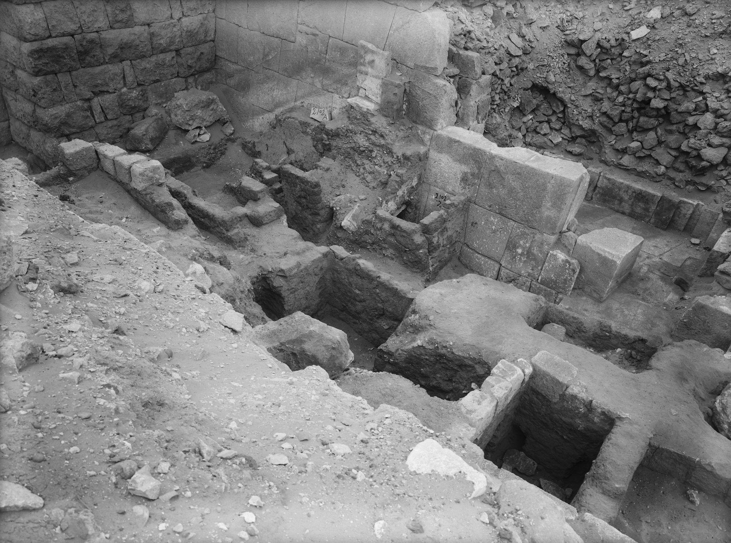 Western Cemetery: Site: Giza; View: G 2100-I, G 2102, G 2103