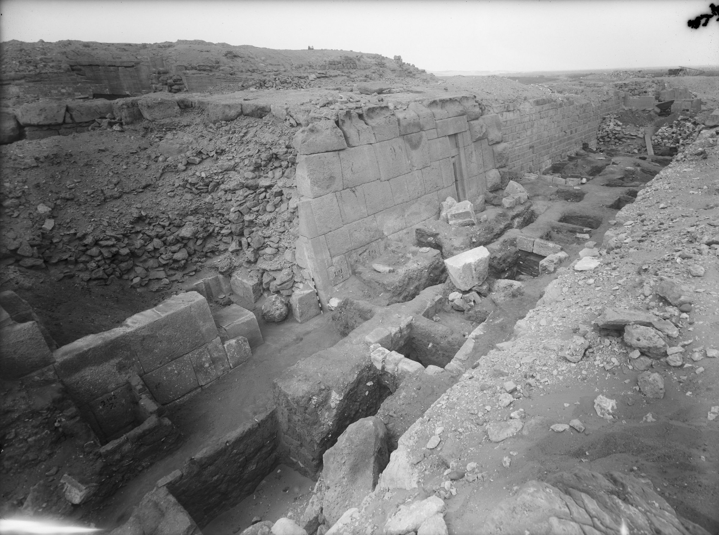 Western Cemetery: Site: Giza; View: G 2103, G 2102, G 2100-I