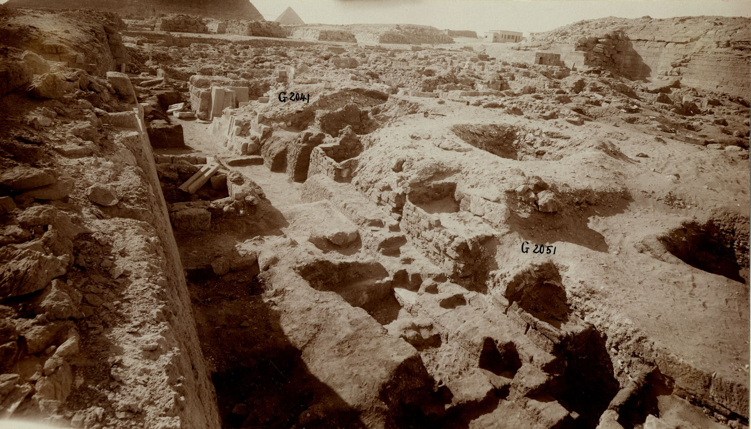 Western Cemetery: Site: Giza; View: G 2051, G 2041, G 2052
