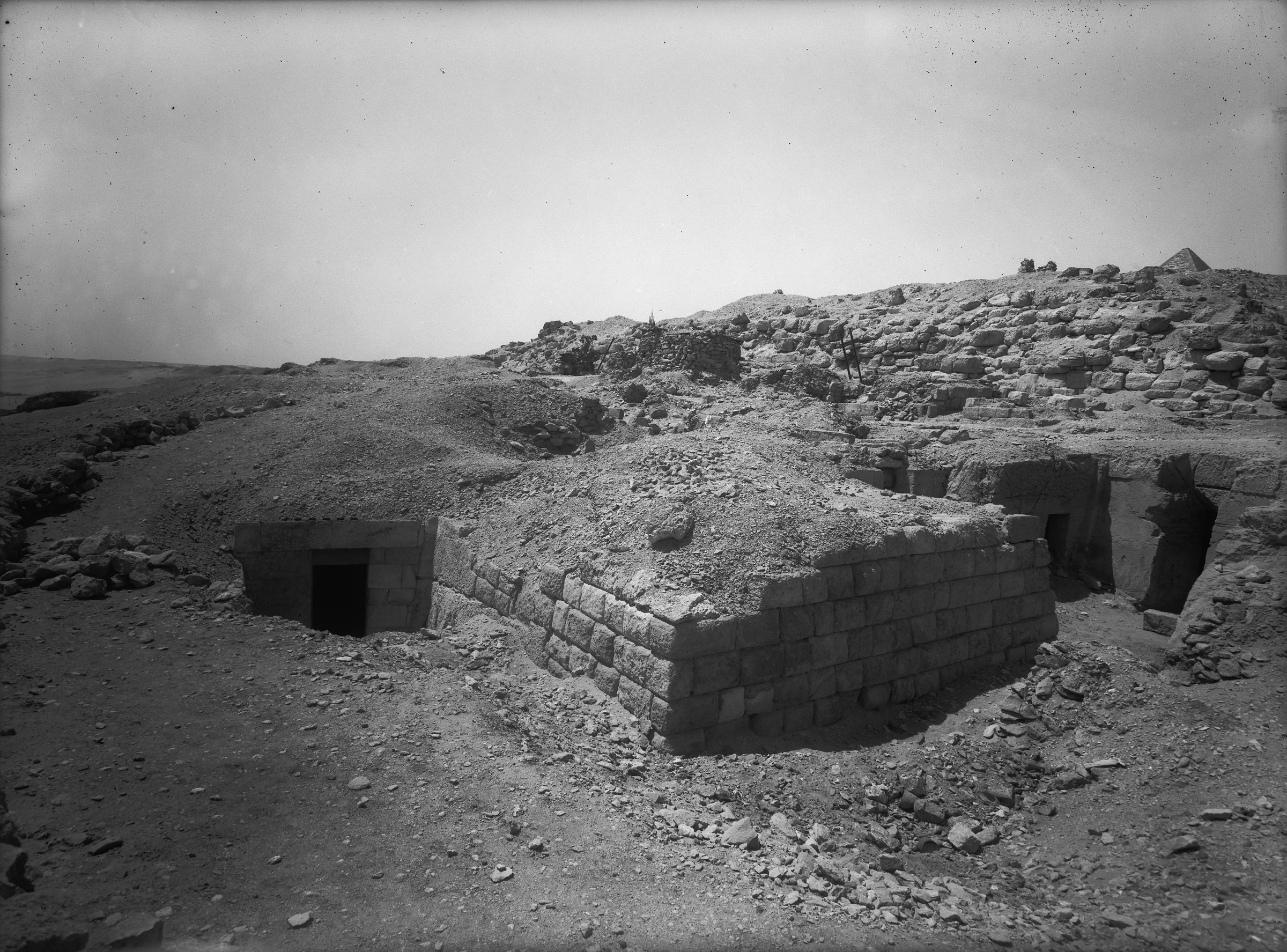 Eastern Cemetery: Site: Giza; View: G 7711, G 7710, Lepsius 71, Sensnefru