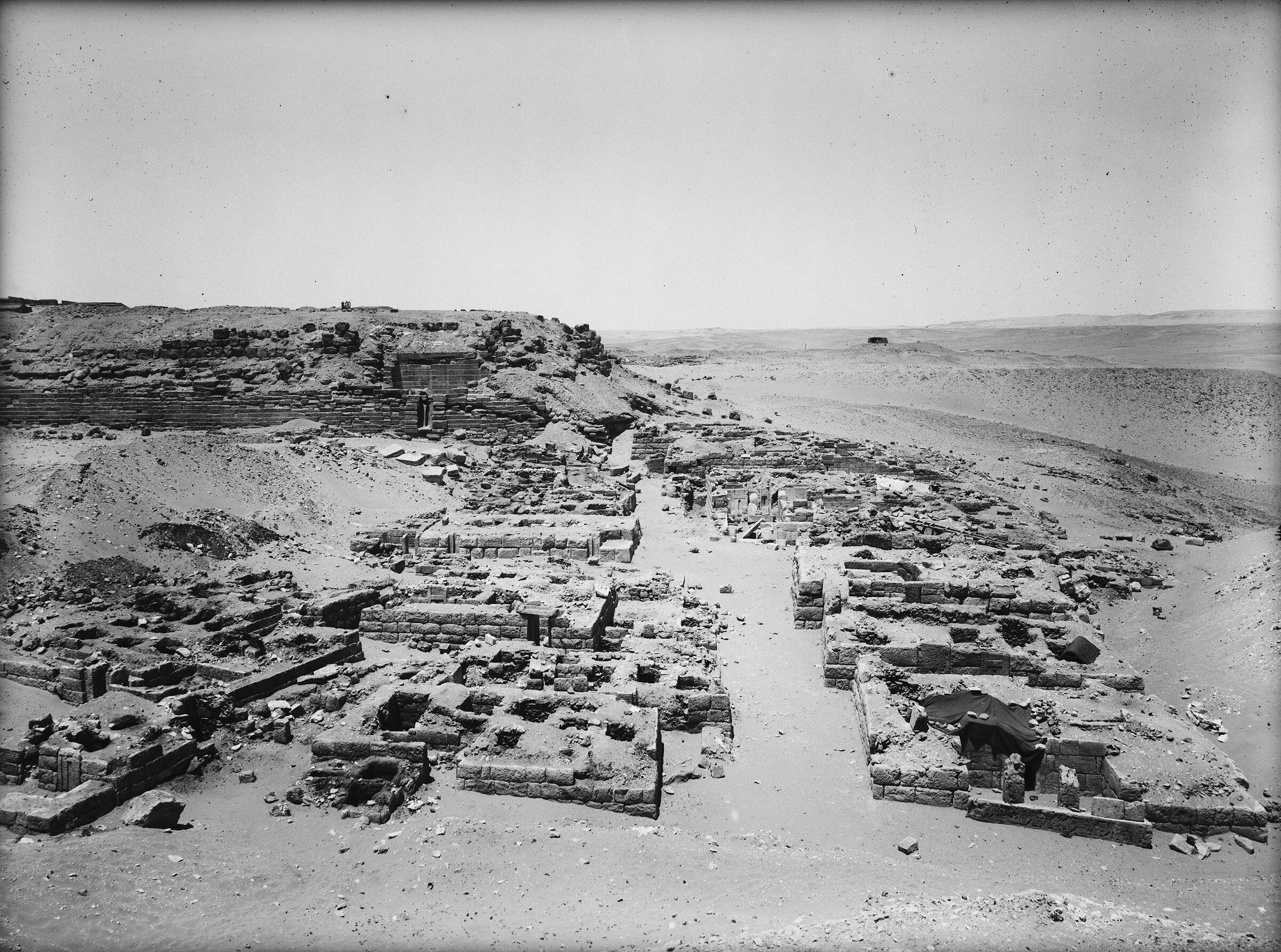 Western Cemetery: Site: Giza; View: G 2243, G 2244, G 2246, G 2243, G 2242, G 2239, G 2240