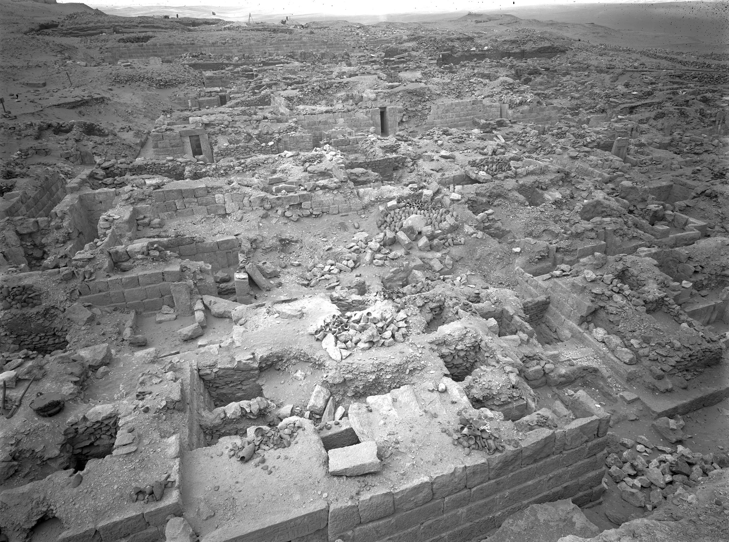 Western Cemetery: Site: Giza; View: G 1026, G 1024, G 1025