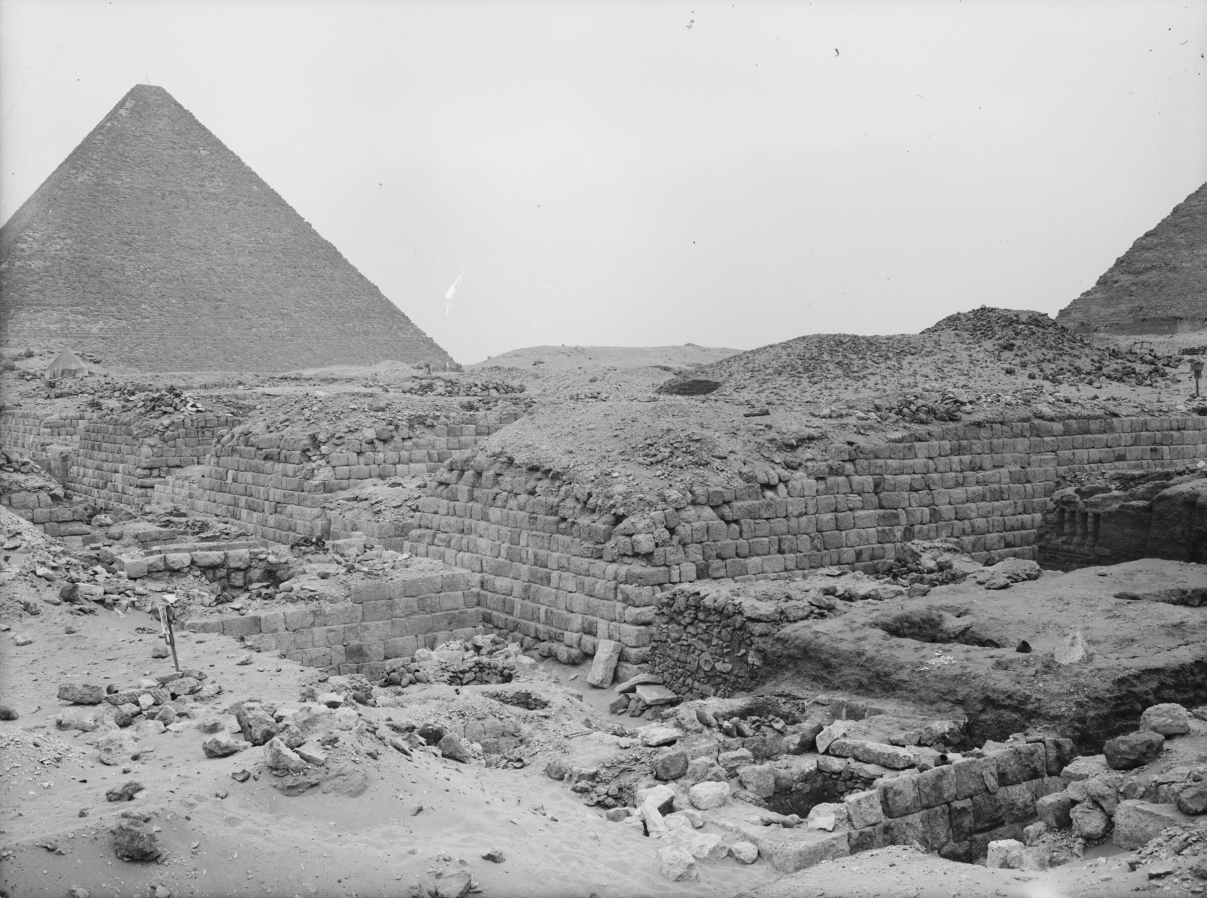 Western Cemetery: Site: Giza; View: G 1209, G 1207, G 1205, G 1203, G 1404, G 1405, G 1407, G 1403