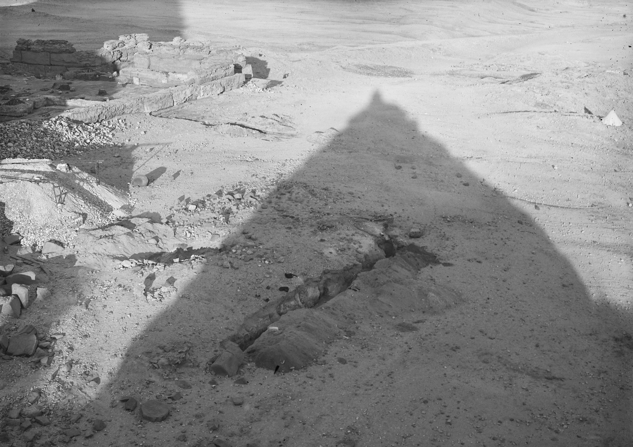 Menkaure Pyramid Complex: Site: Giza; View: Menkaure pyramid temple