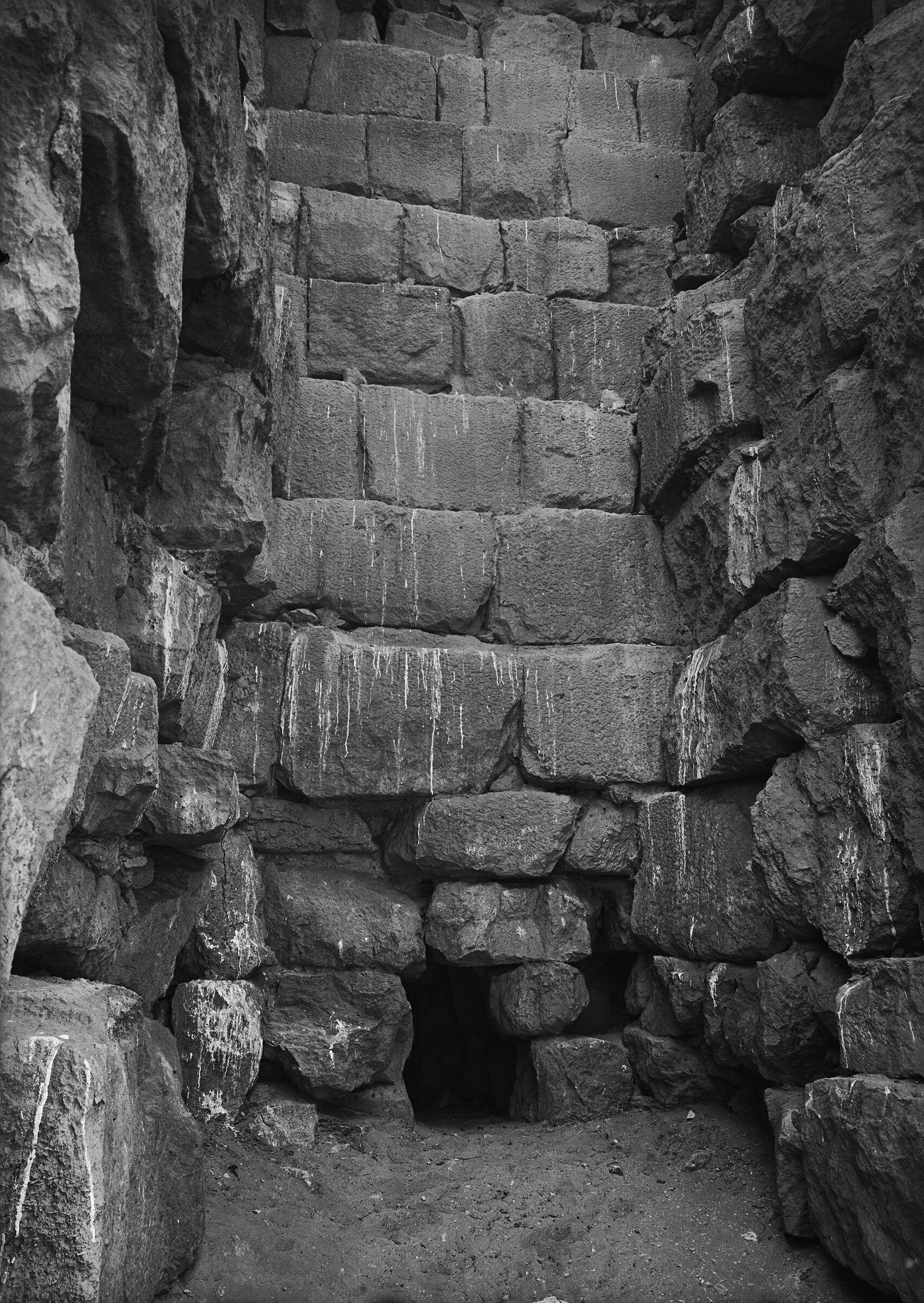 Menkaure Pyramid Complex: Site: Giza; View: Menkaure pyramid