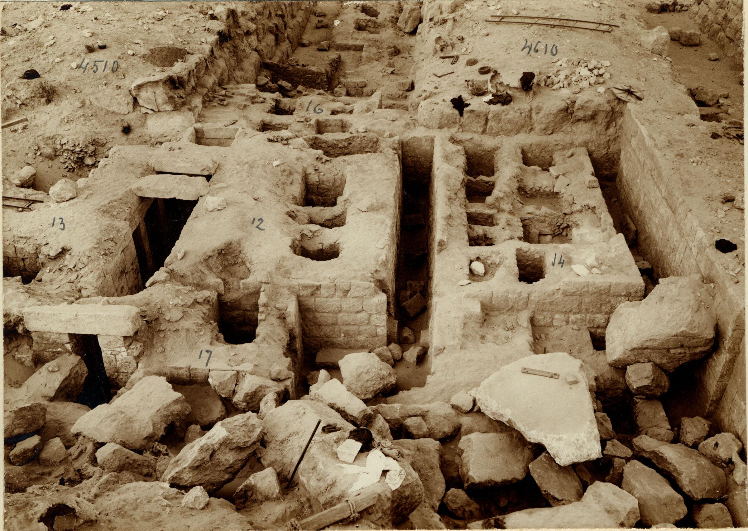 Western Cemetery: Site: Giza; View: G 4510, G 4610, G 4513, G 4512, G 4517, G 4516, G 4514