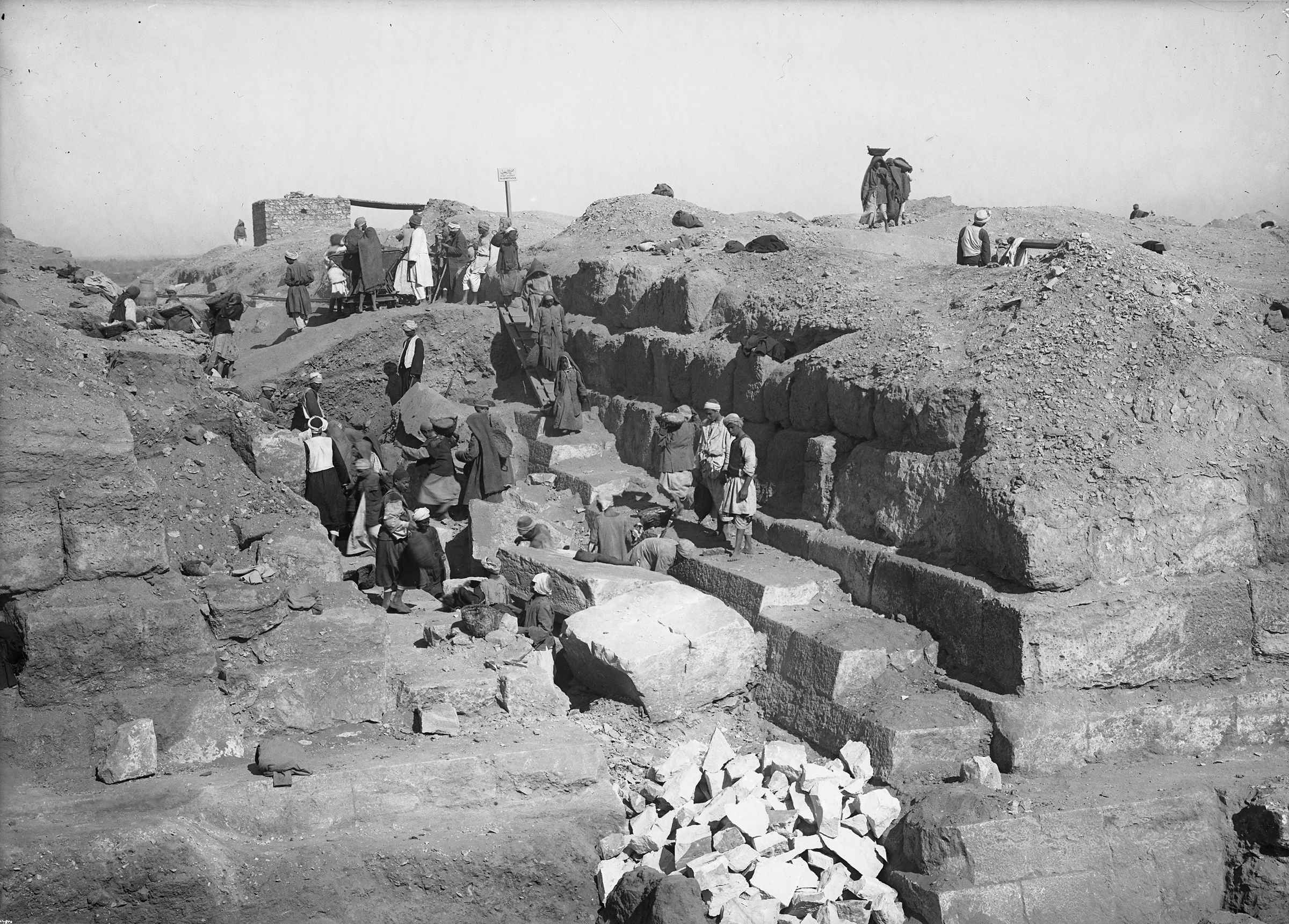 Eastern Cemetery: Site: Giza; View: street G 7300, G 7410-7420, G 7310-7320