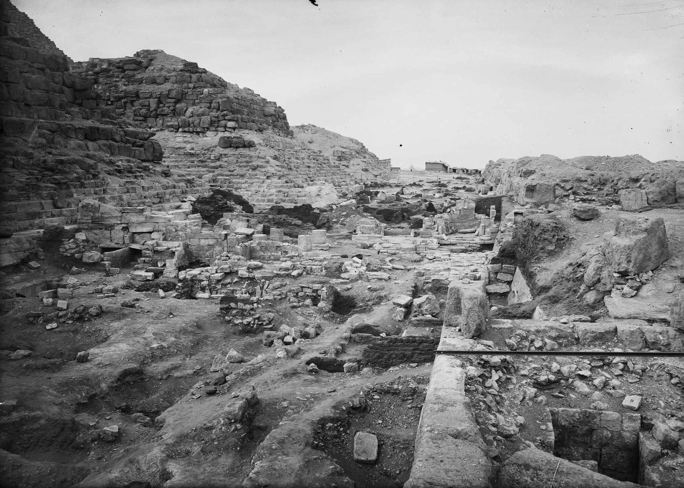 Eastern Cemetery: Site: Giza; View: Isis Temple, street G 7000, G 7150
