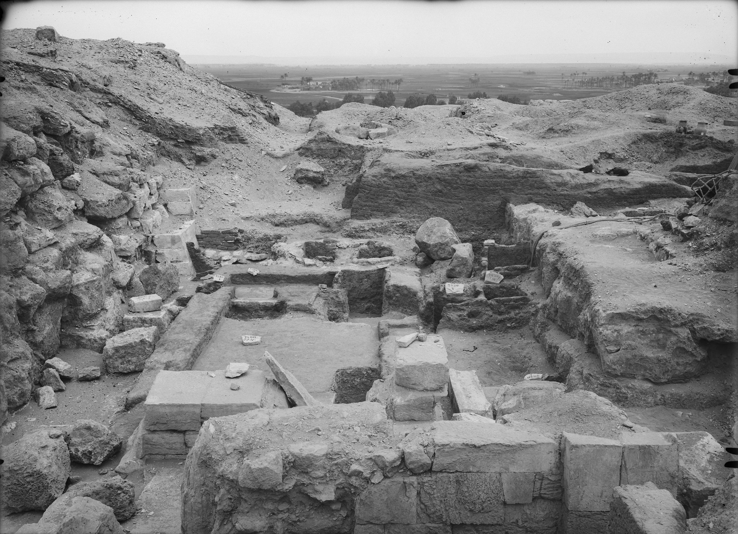 Eastern Cemetery: Site: Giza; View: avenue G 2, G 7430-7440