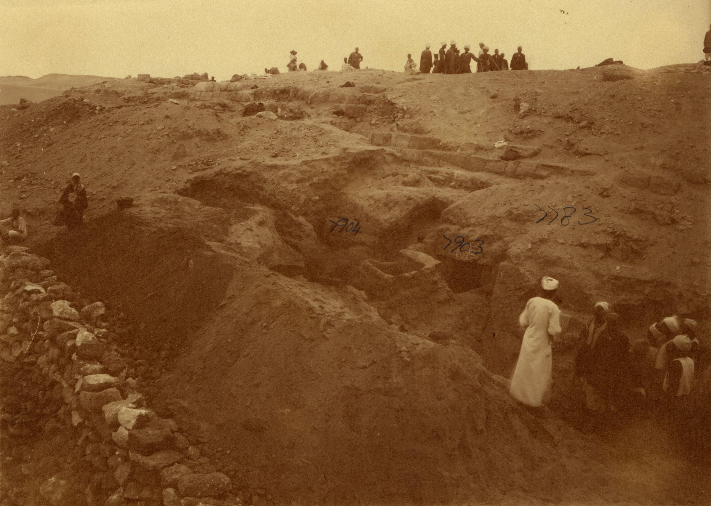 Eastern Cemetery: Site: Giza; View: G 7903, G 7904, G 7783