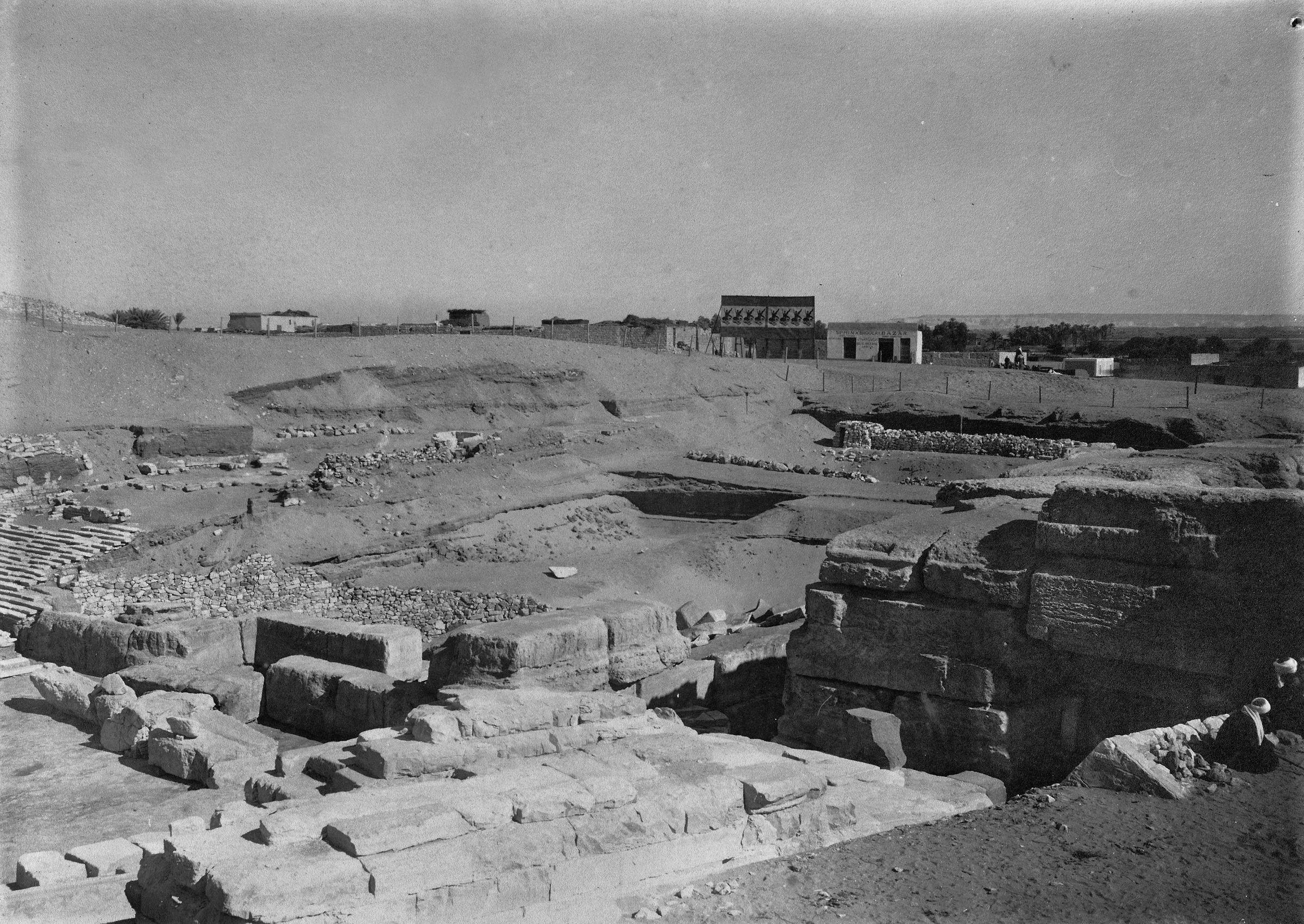 People & places: Site: Giza; View: Giza, Sphinx