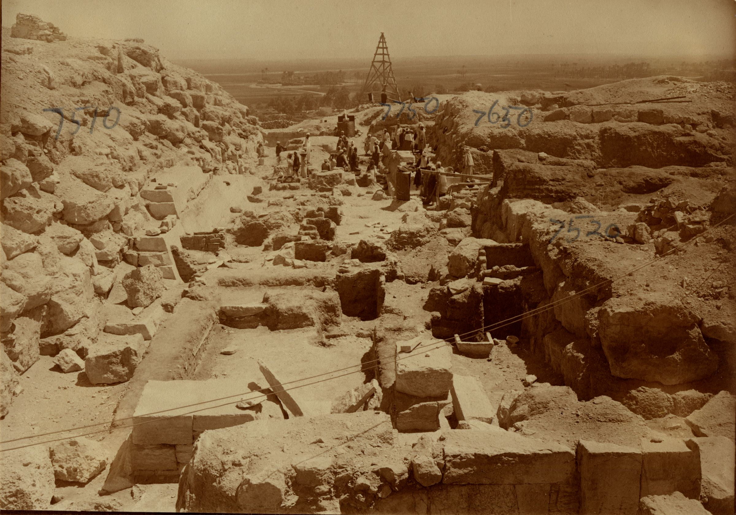 Eastern Cemetery: Site: Giza; View: avenue G 2, G 7510, G 7520, G 7650, G 7750