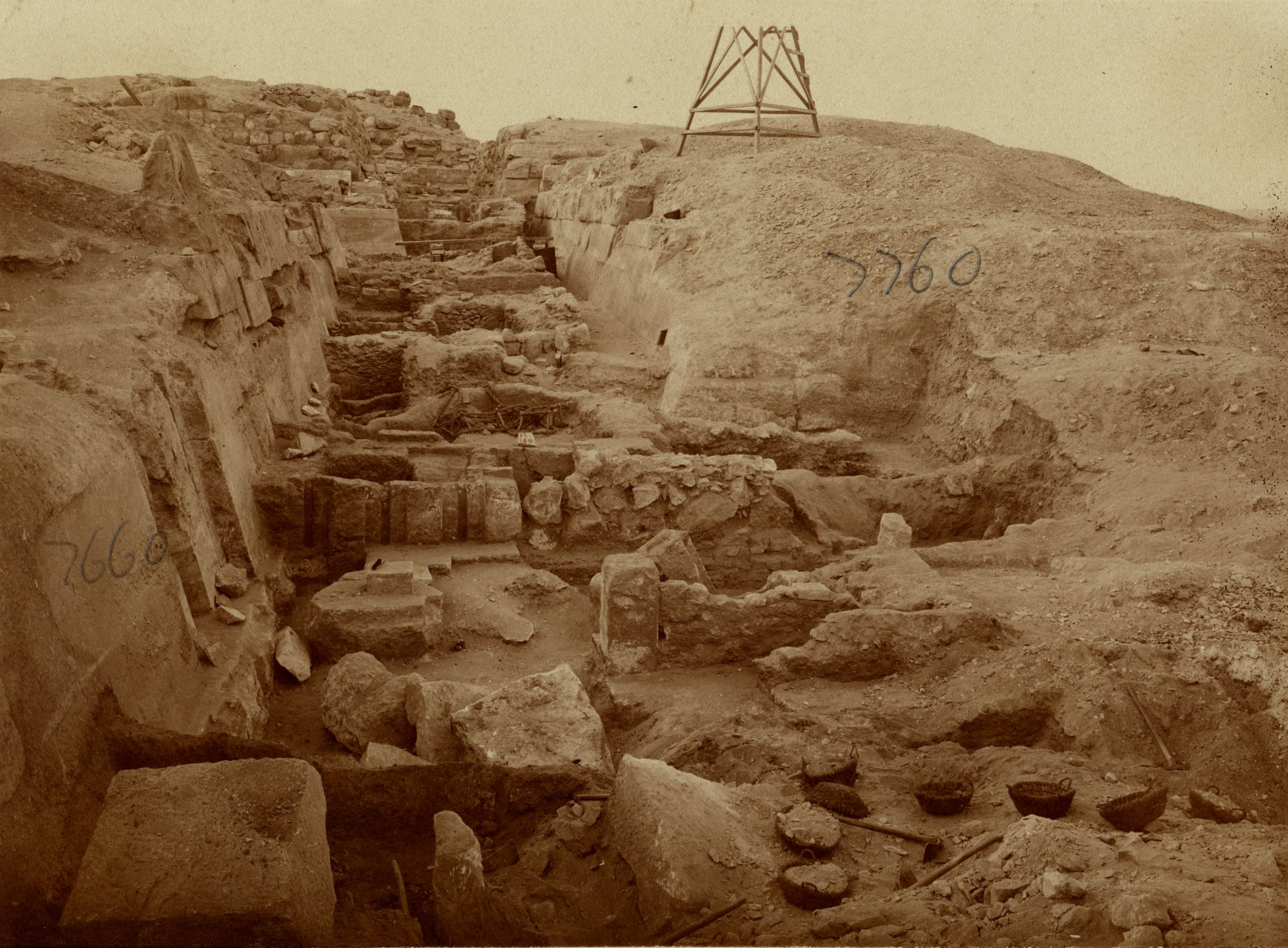 Eastern Cemetery: Site: Giza; View: street G 7600, G 7660, G 7760