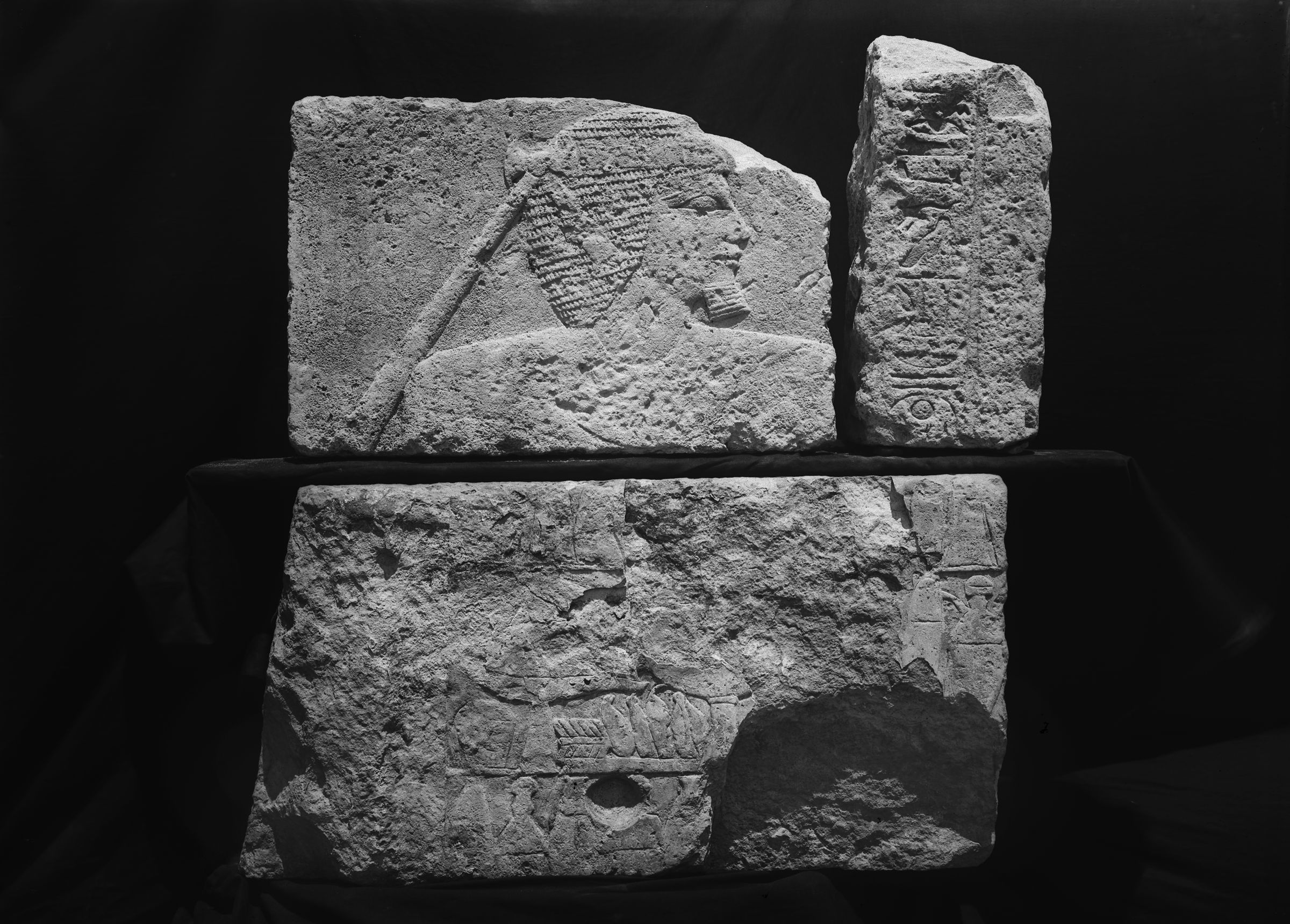 Object(s) photograph: Site: Giza; view: street G 7000, Isis Temple, G 7130-7140