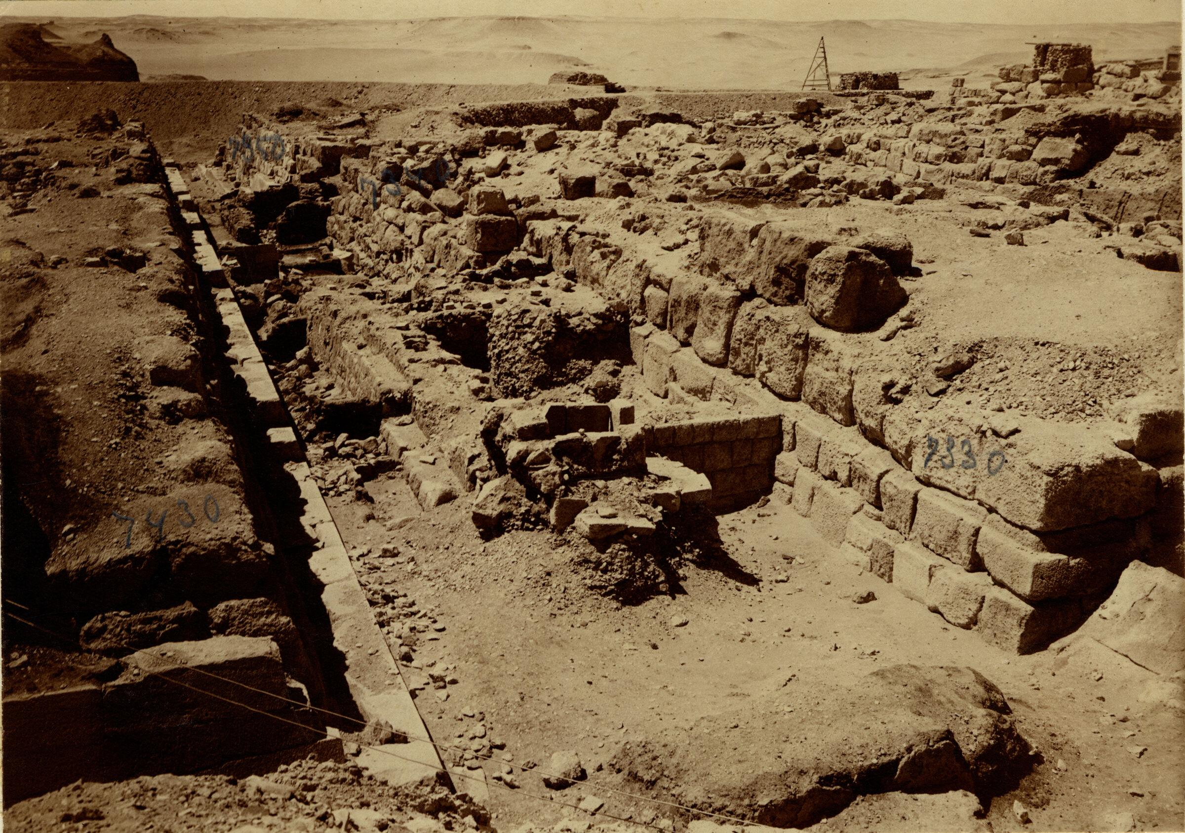 Eastern Cemetery: Site: Giza; View: street G 7300, G 7330-7340, G 7350, G 7331+7332, G 7430-7440