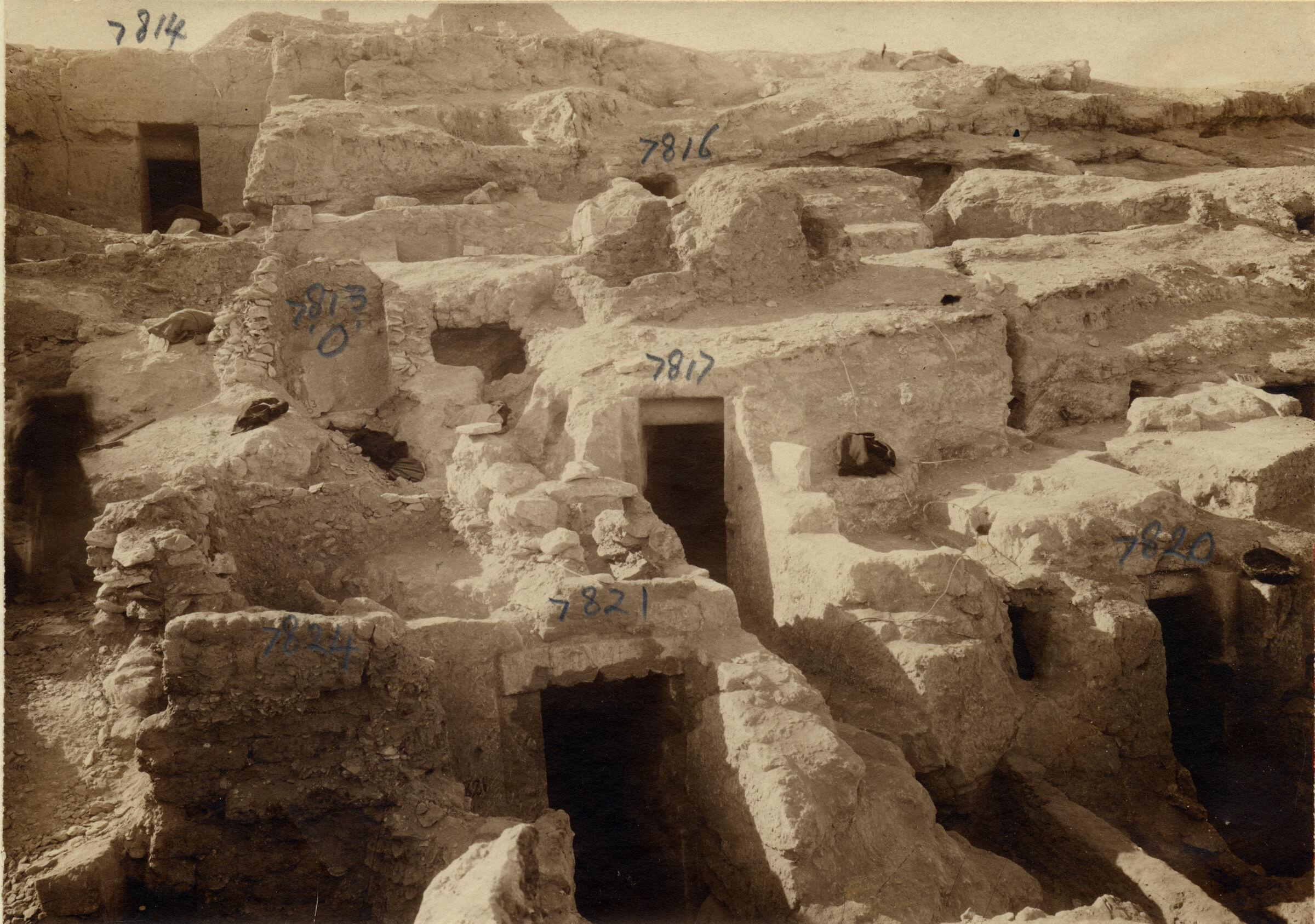Eastern Cemetery: Site: Giza; View: G 7824, G 7821, G 7820, G 7817, G 7813, G 7816, G 7814