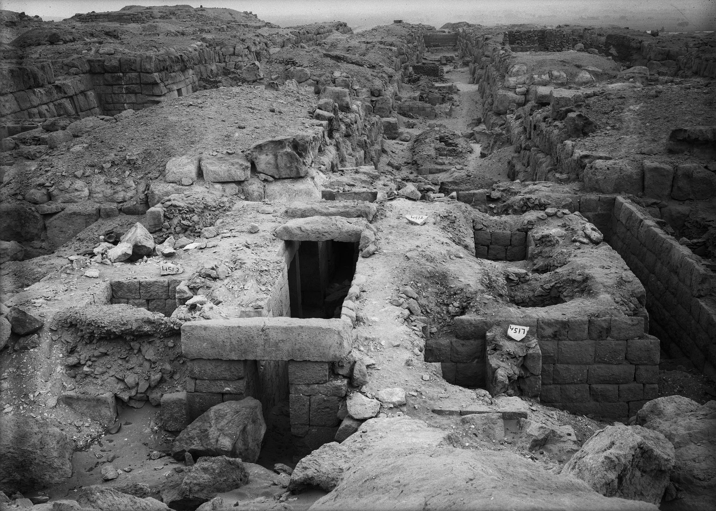 Western Cemetery: Site: Giza; View: G 4512, G 4513, G 4517