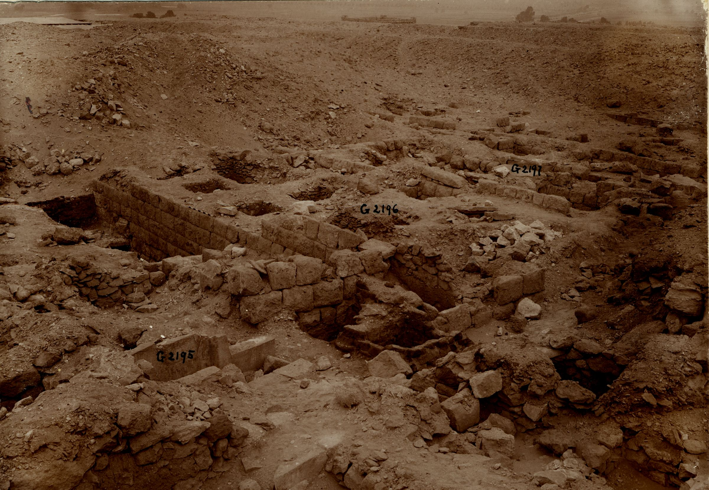 Western Cemetery: Site: Giza; View: G 2195, G 2188, G 2196, G 2197