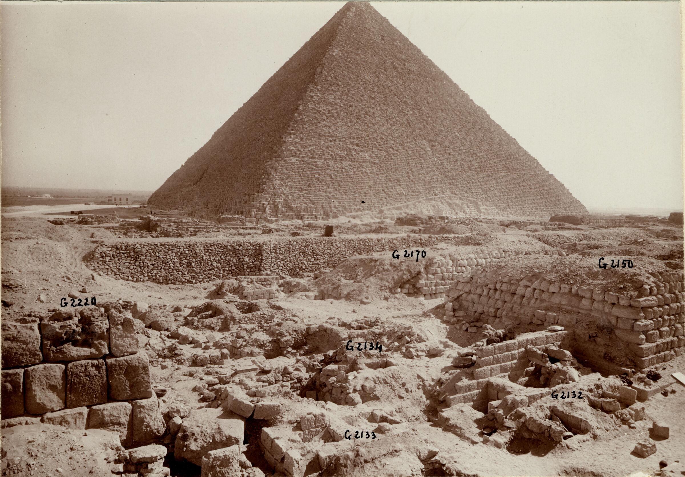 Western Cemetery: Site: Giza; View: G 2220, G 2150, G 2133, G 2130, G 2131, G 2132, G 2134, G 2134a, G 2170