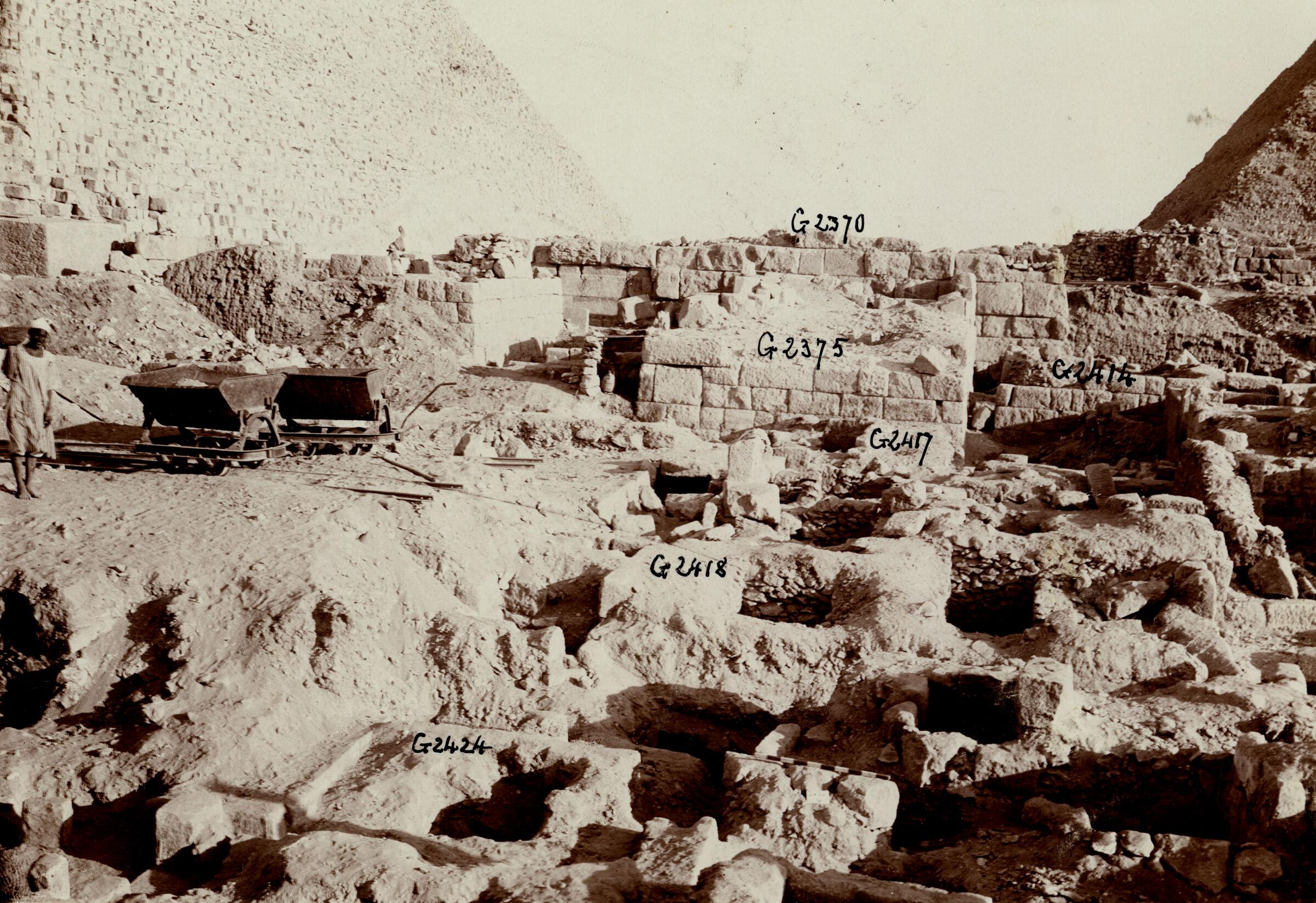 Western Cemetery: Site: Giza; View: G 2424+2425, G 2418, G 2417, G 2375, G 2414, G 2370