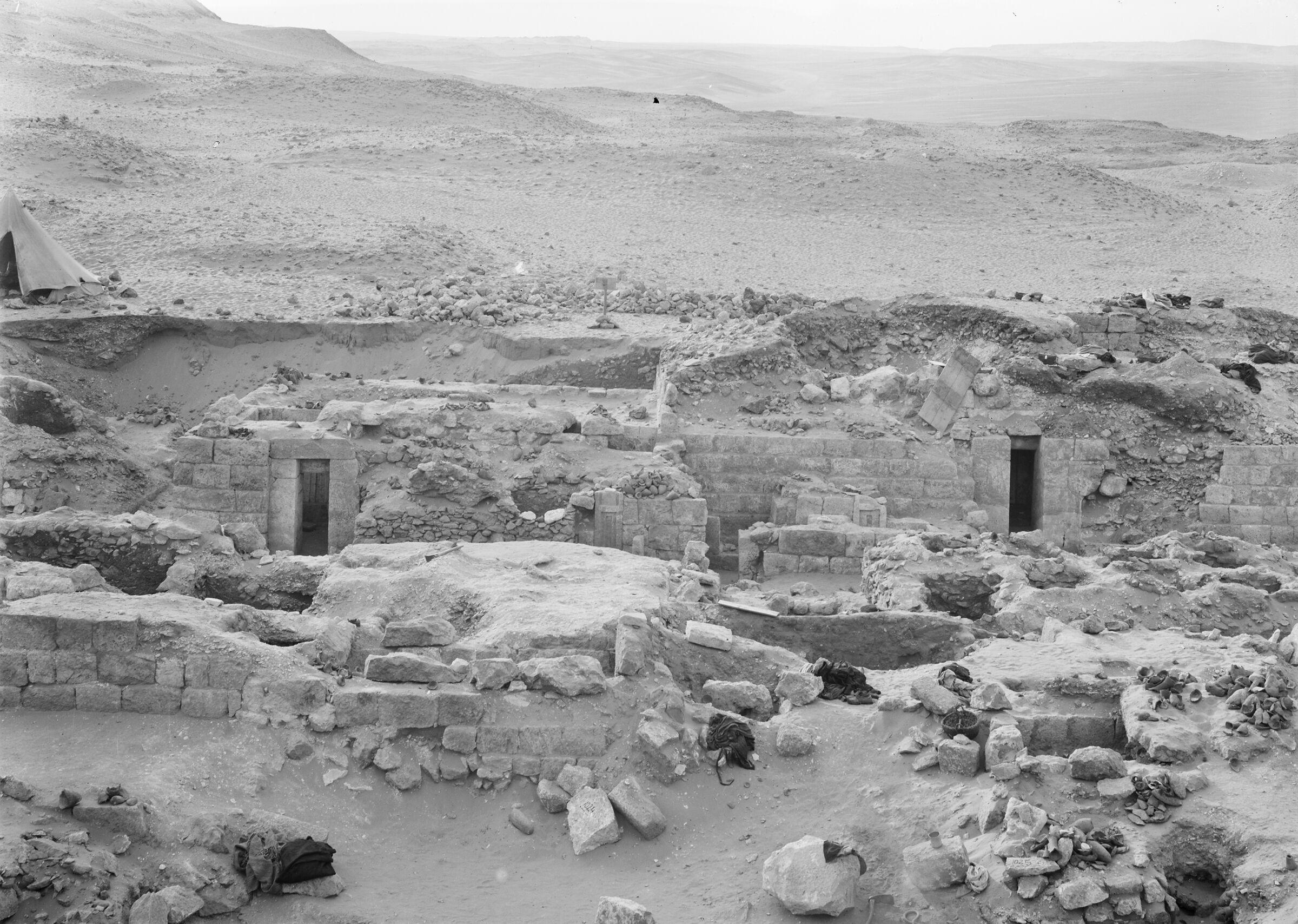 Western Cemetery: Site: Giza; View: G 1020, G 1016, G 1018, G 1019, G 1011