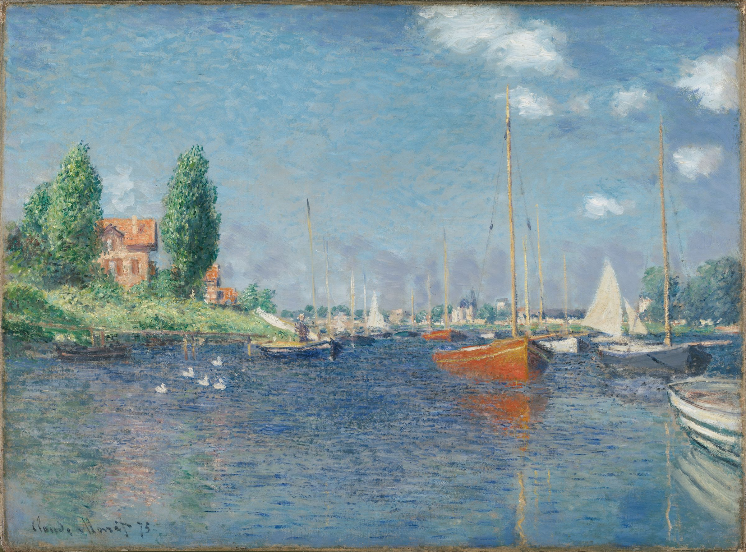 From The Harvard Art Museums Collections Red Boats