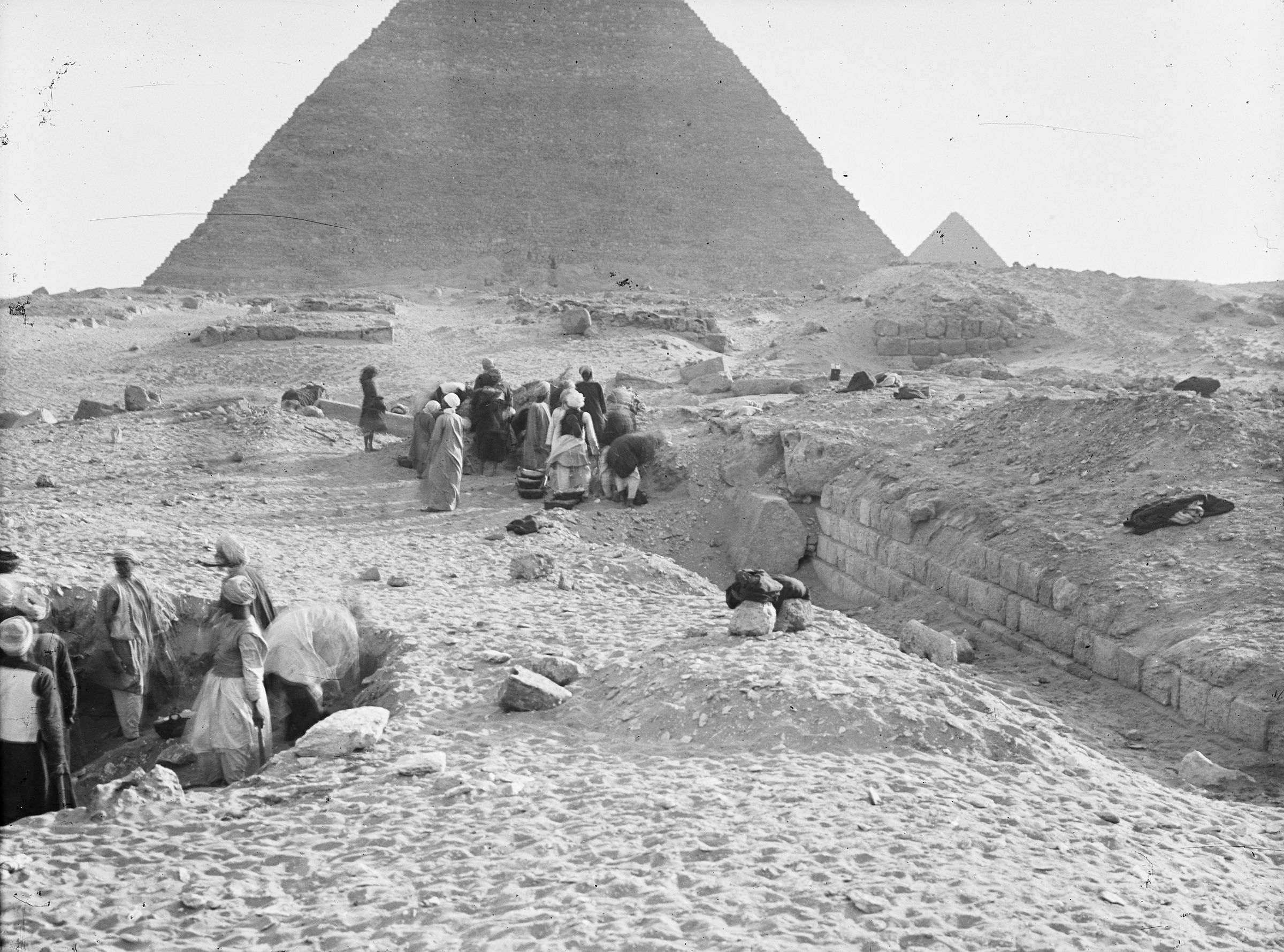 Western Cemetery: Site: Giza; View: G 2100, G 2120, G 2130, G 2100-I