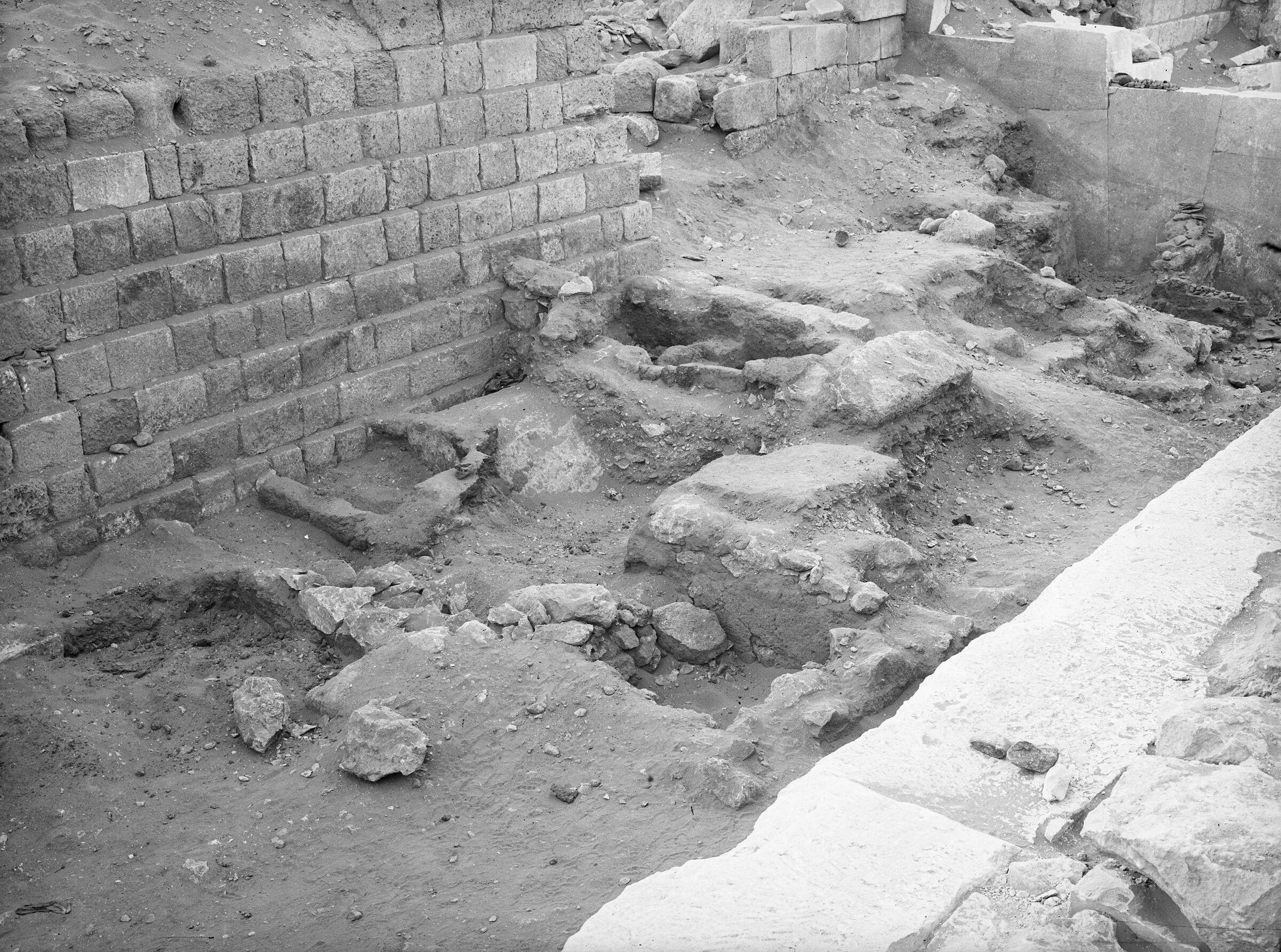 Western Cemetery: Site: Giza; View: G 2100, G 2114, G 2111, G 2112, G 2110