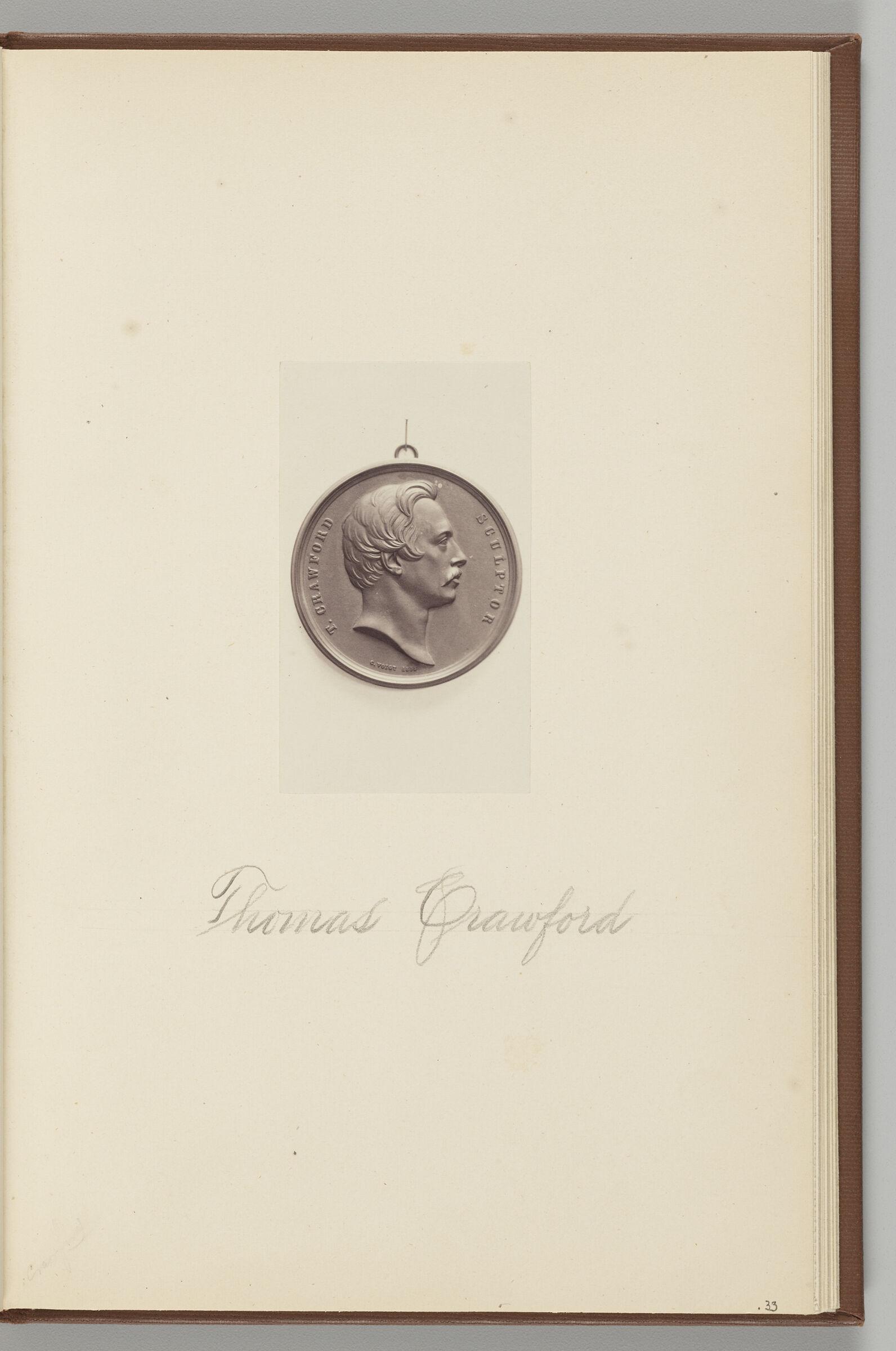 Medal Of Thomas Crawford (1814-1857)