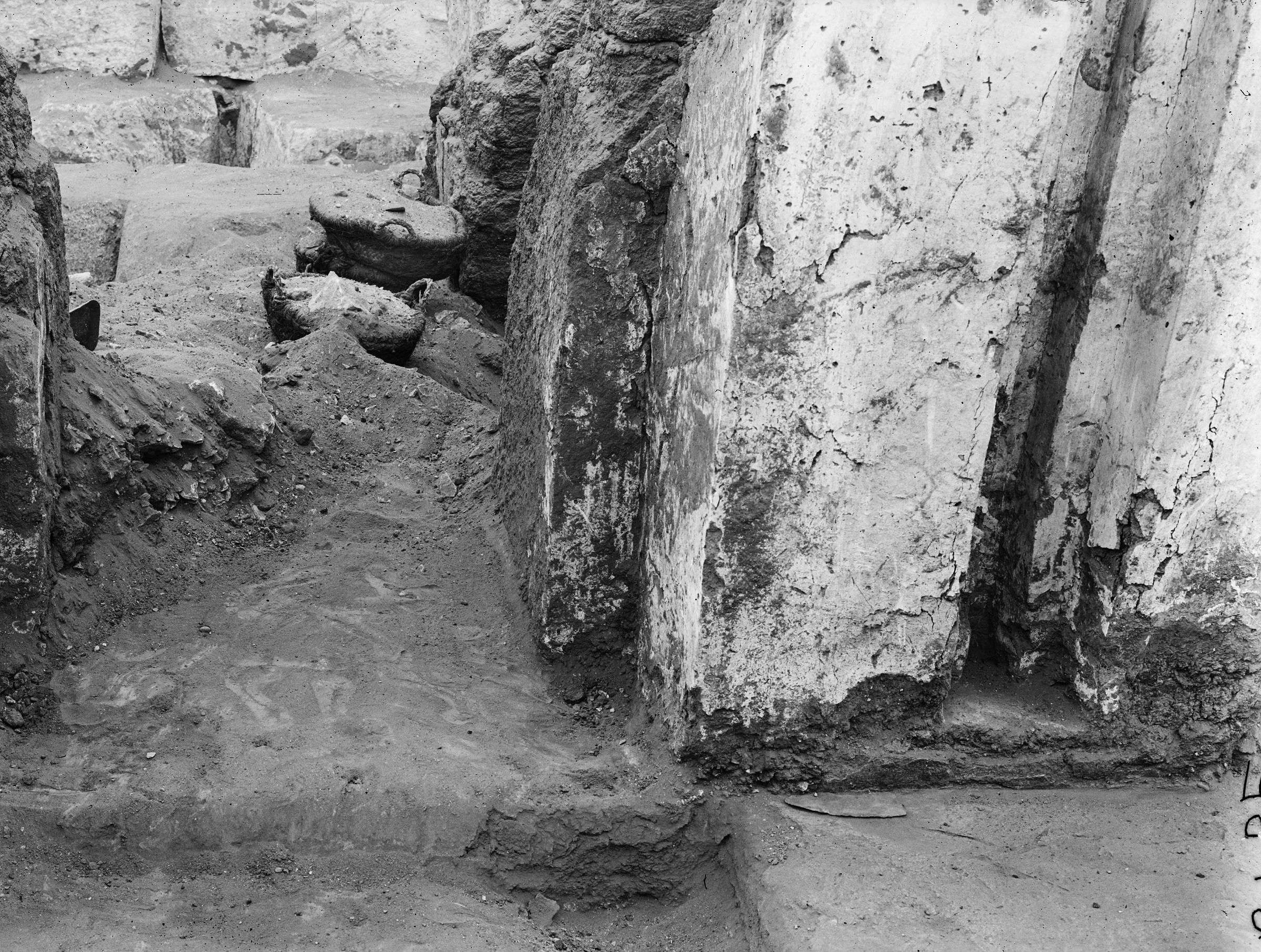 Menkaure Pyramid Complex: Site: Giza; View: G III-a temple