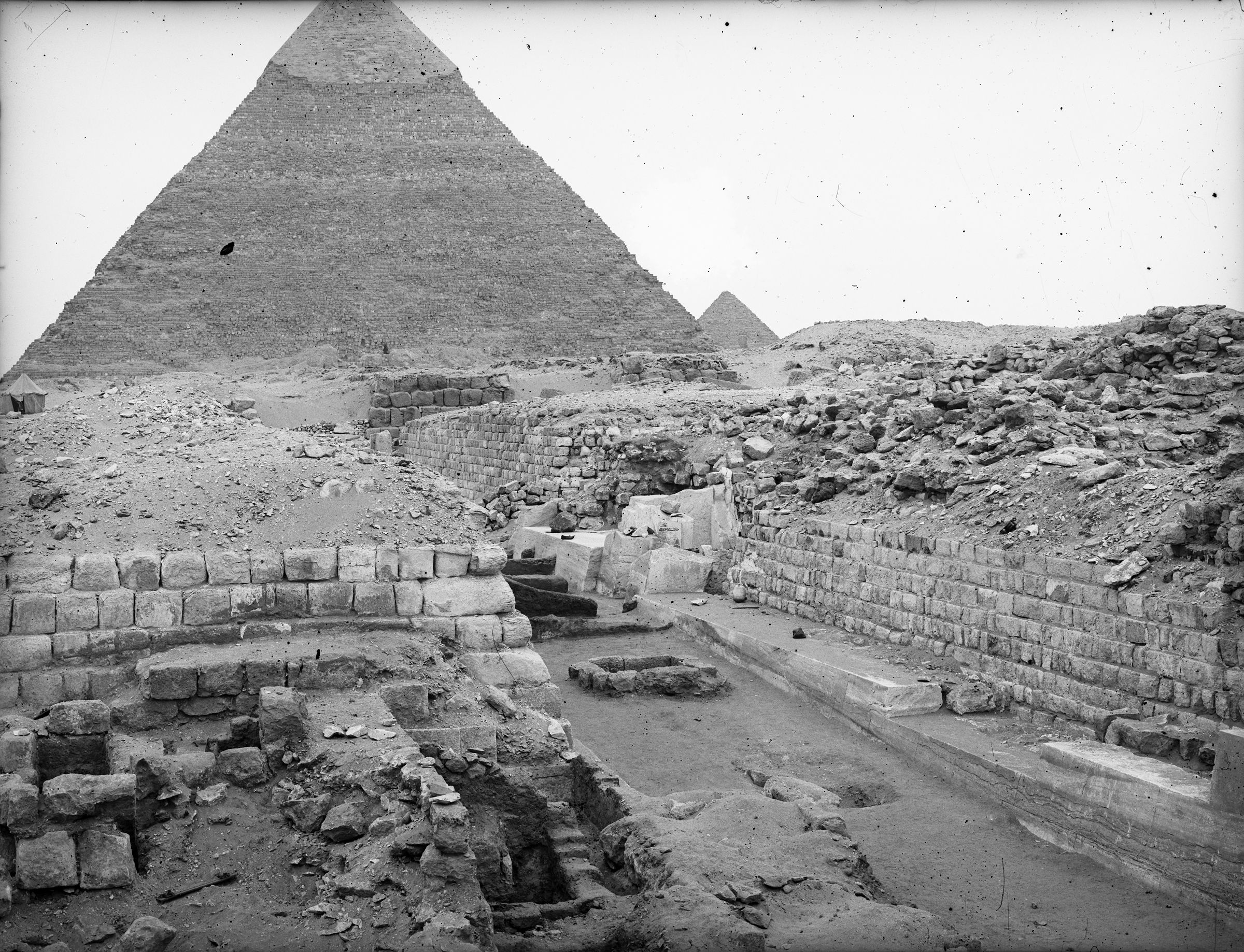 Western Cemetery: Site: Giza; View: G 2130, G 2132, G 2131, G 2150