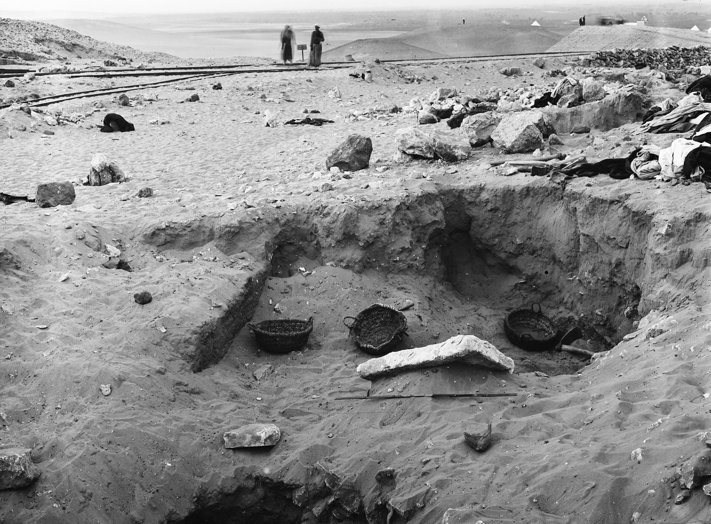 Western Cemetery: Site: Giza; View: G 1104+1105, G 1107