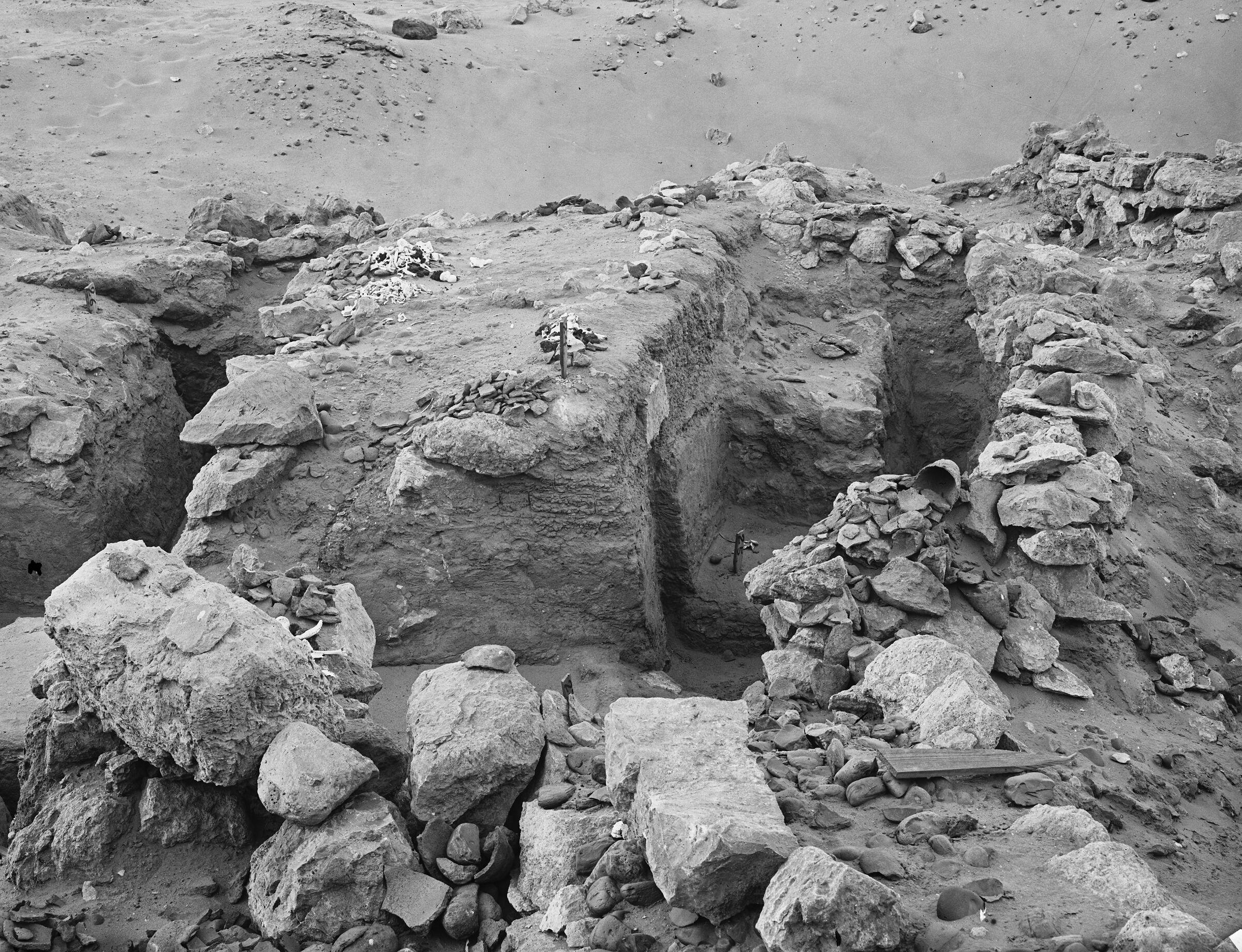 Wadi Cemetery (Reisner; north of W. Cem): Site: Giza; View: GW 23, GW 24, GW 25, GW 26