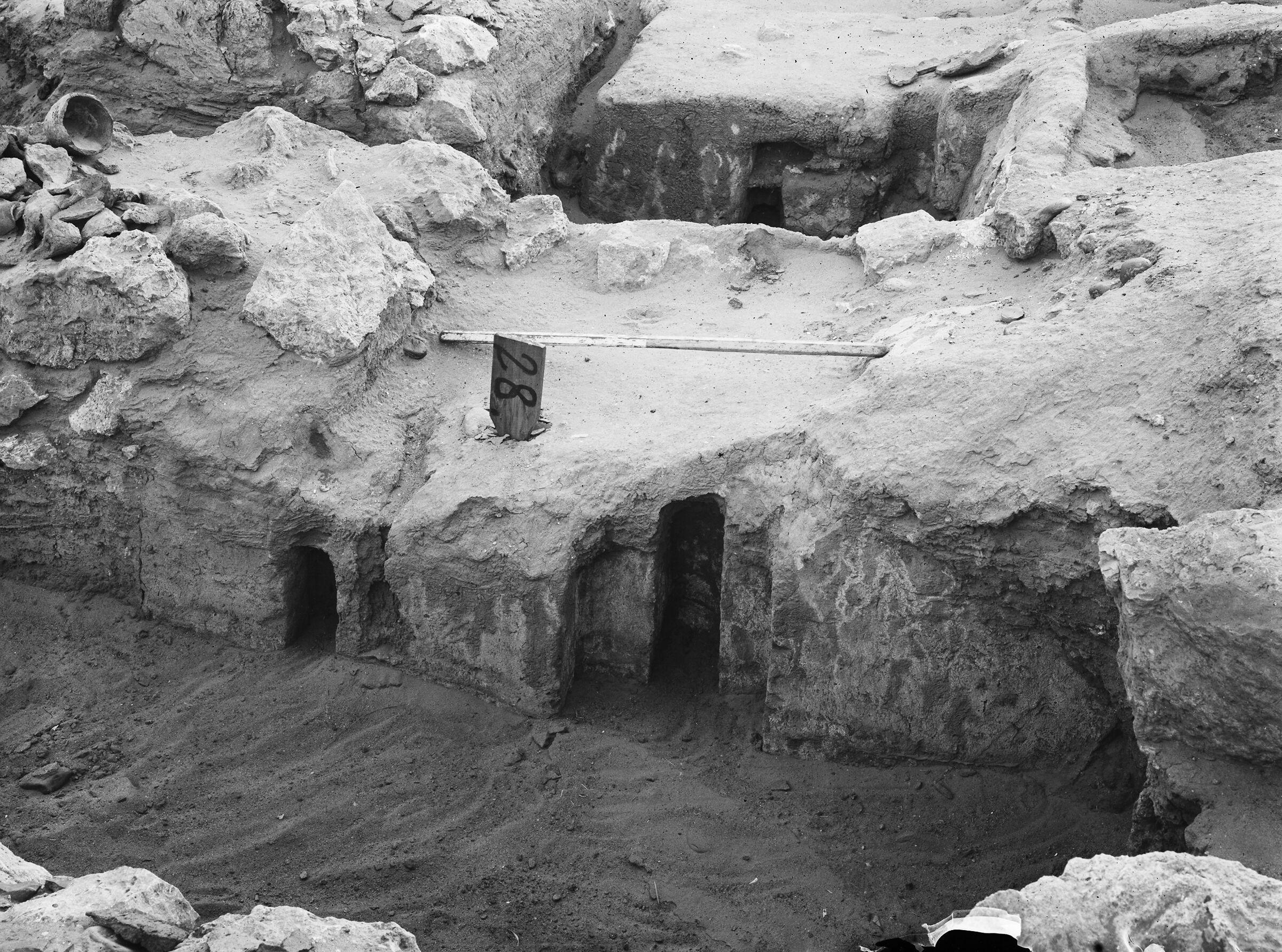 Wadi Cemetery (Reisner; north of W. Cem): Site: Giza; View: GW 28, GW 29, GW 48, GW 50
