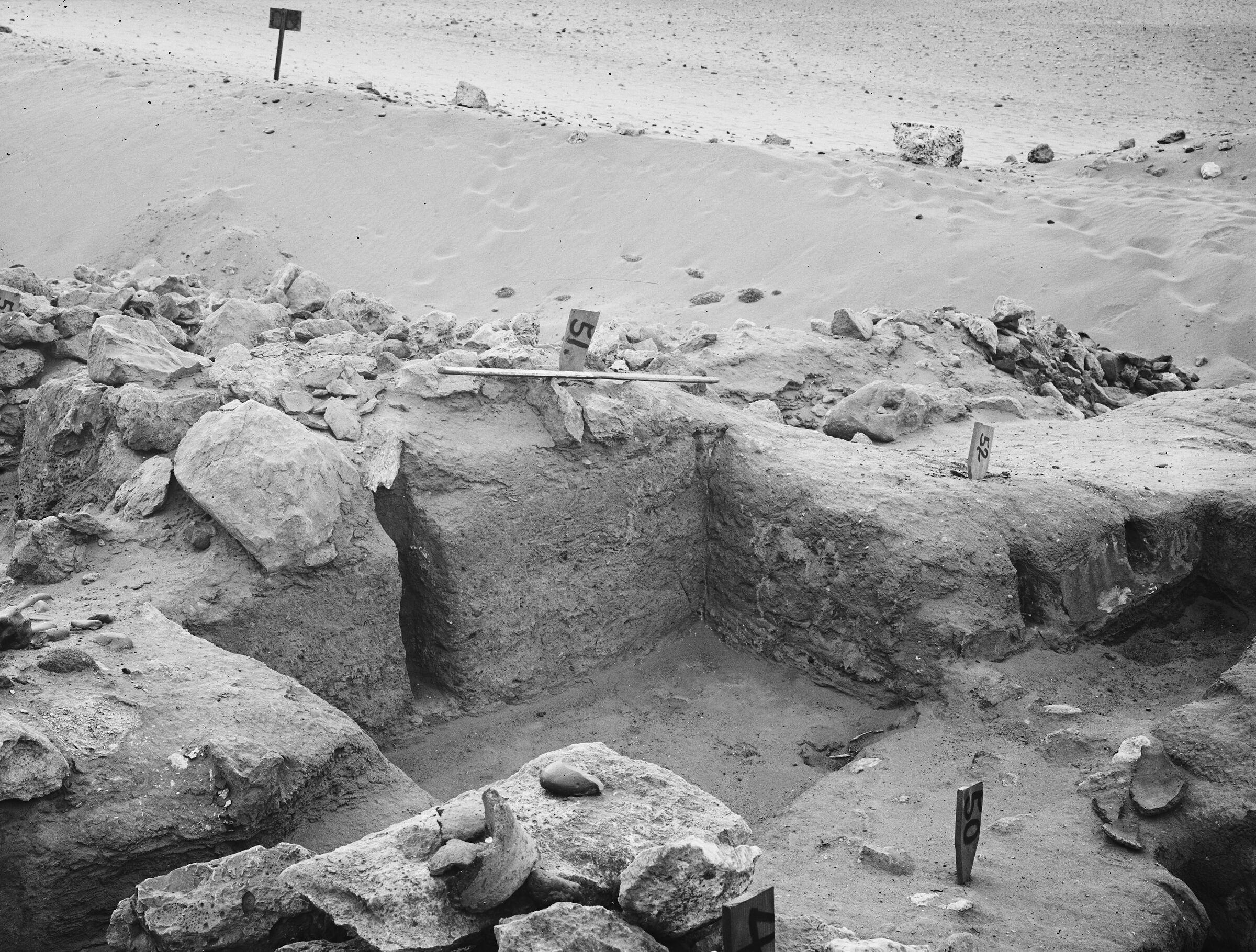 Wadi Cemetery (Reisner; north of W. Cem): Site: Giza; View: GW 48, GW 49, GW 50, GW 51, GW 52
