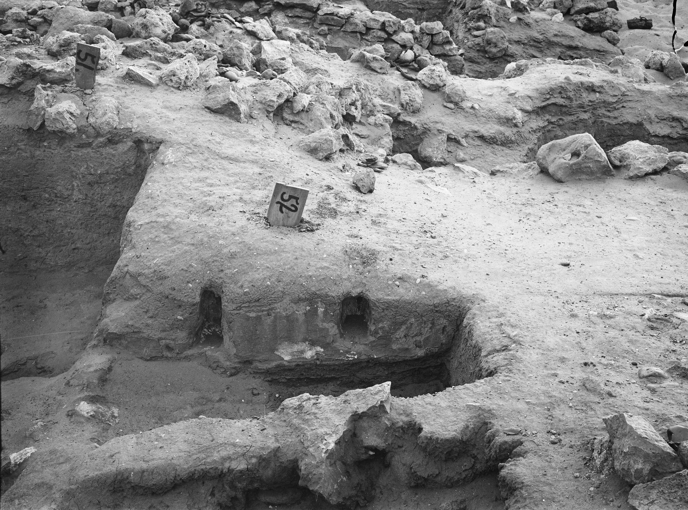 Wadi Cemetery (Reisner; north of W. Cem): Site: Giza; View: GW 51, GW 52